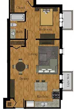 One Bedroom E