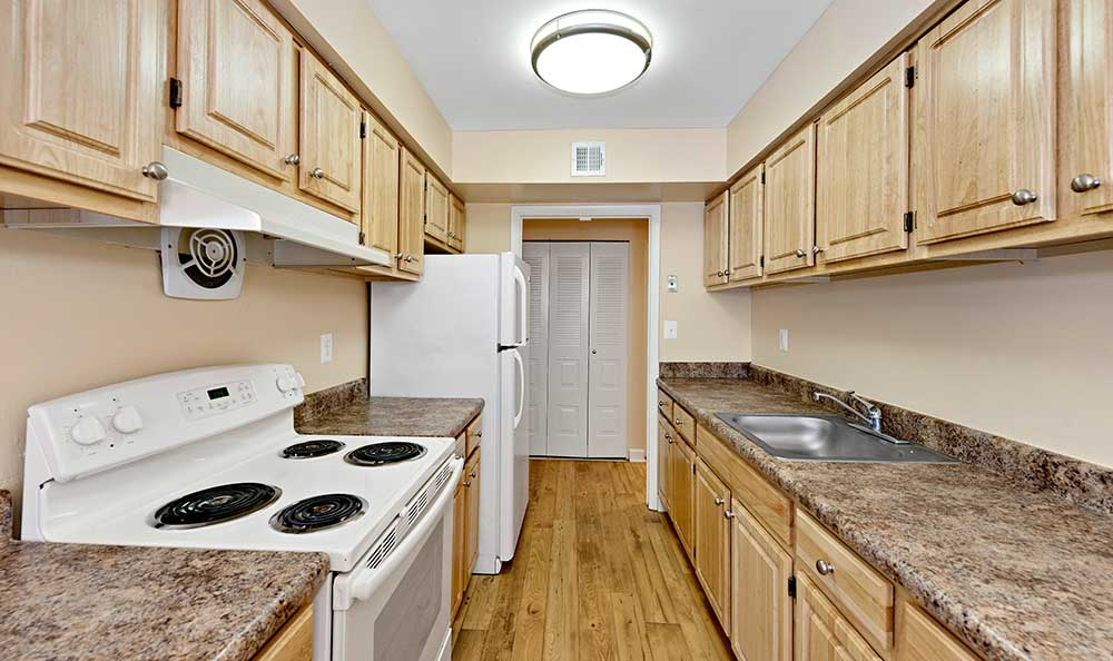 Upgraded kitchen at EastView Communities