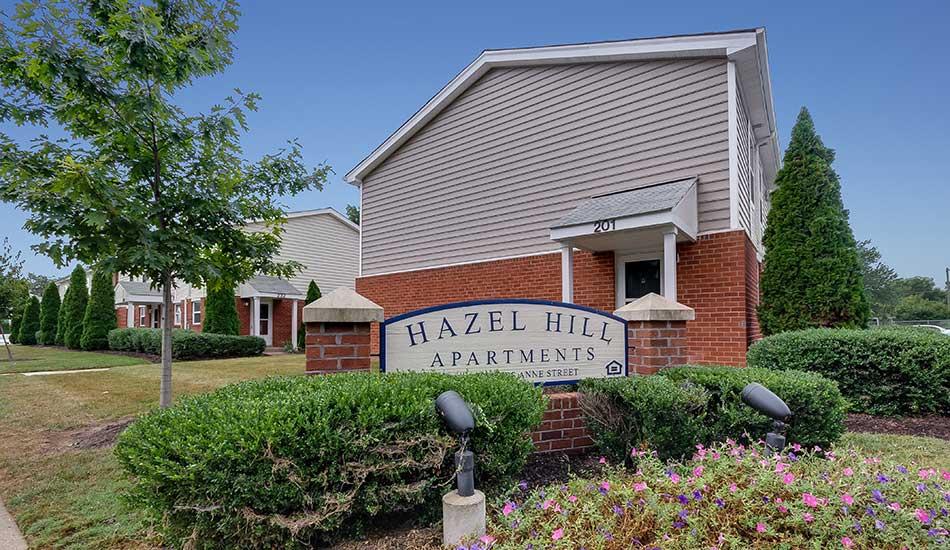 Hazel Hill front sign
