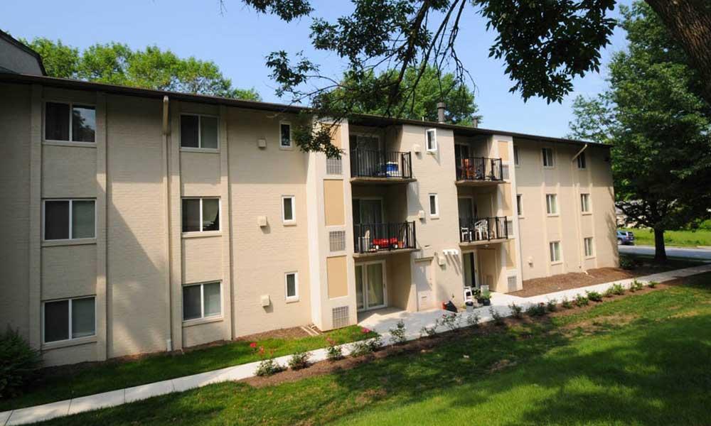 Private balconies at our Lanham apartments
