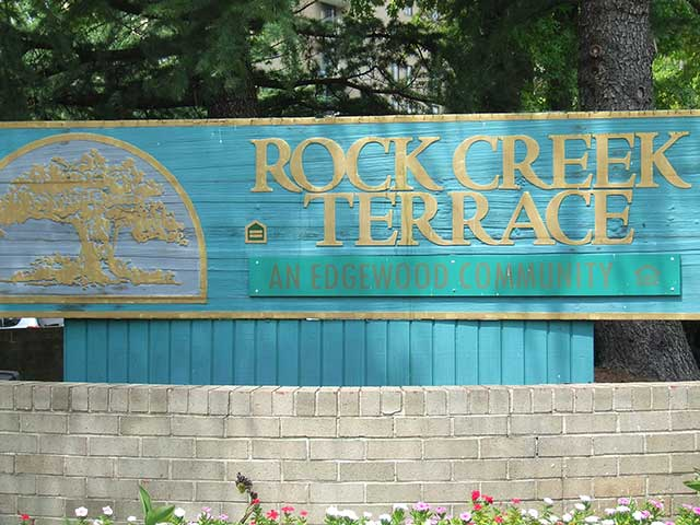 Rock Creek Terrace monument sign