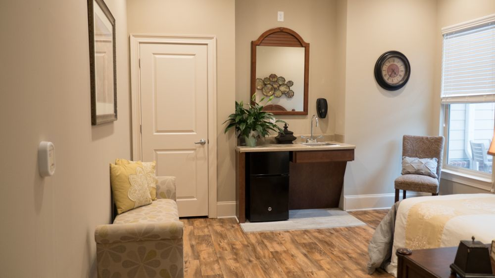 Model senior apartment at Creekside At Three Rivers Assisted Living in Murfreesboro