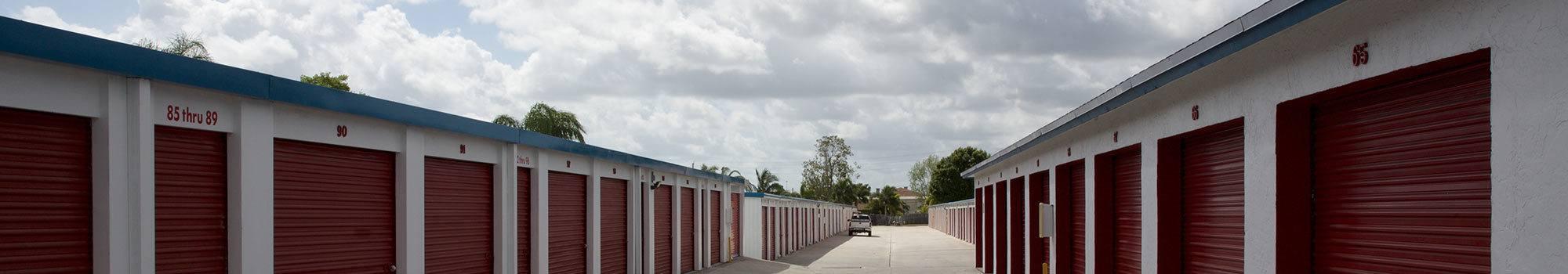 Boat & RV storage offered at Port St Lucie, FL self storage