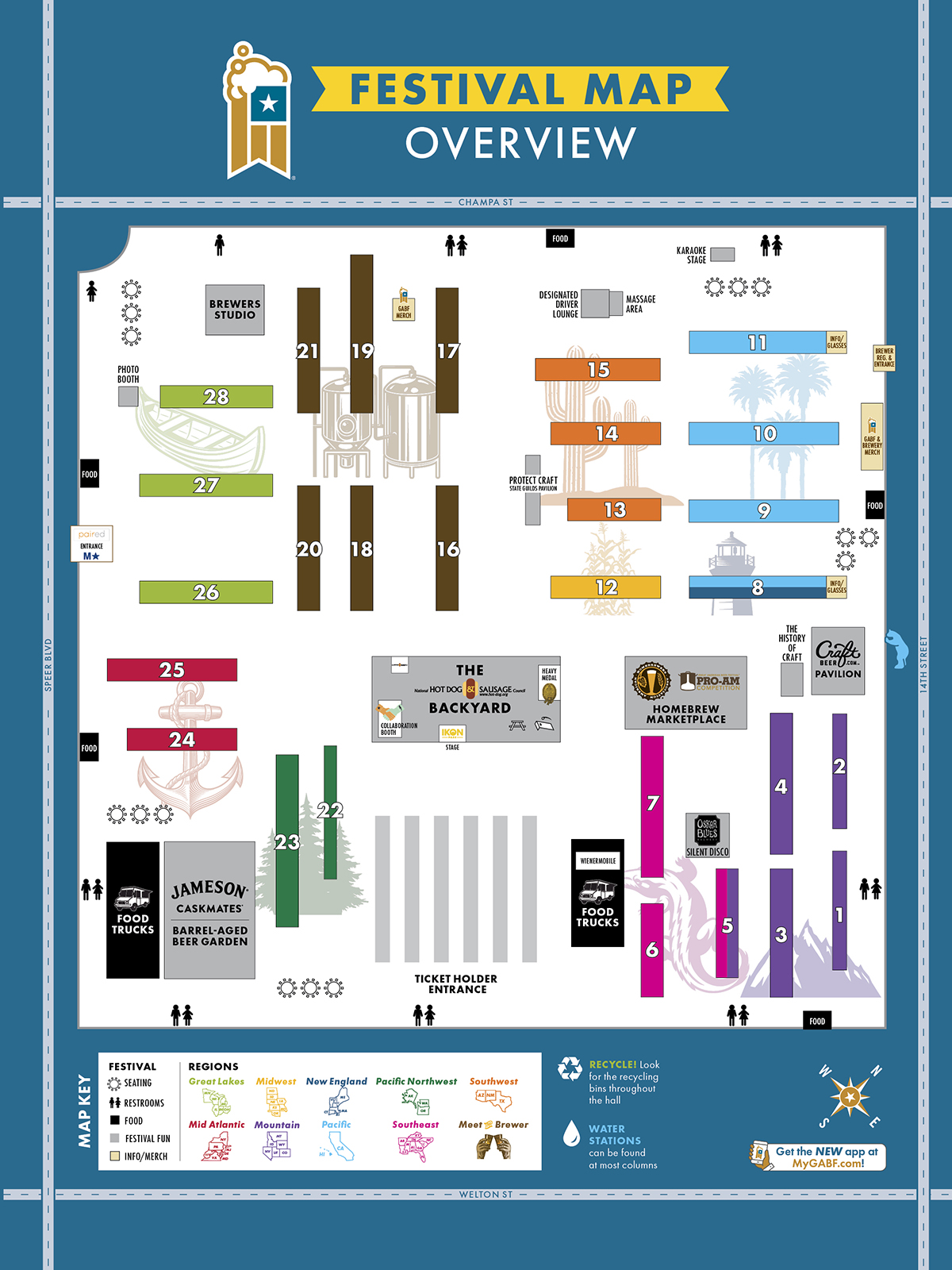 2019 Festival Map - Great American Beer Festival