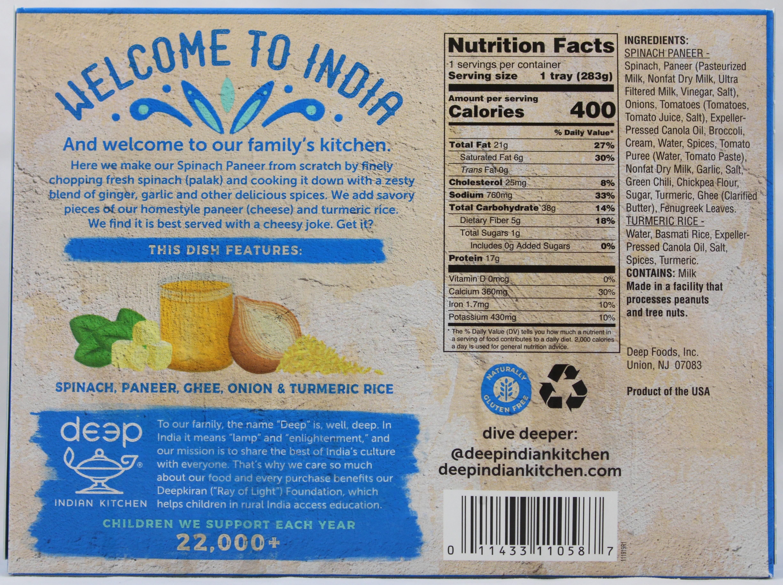Spinach Pnr W/Turmeric Rice 10 oz.