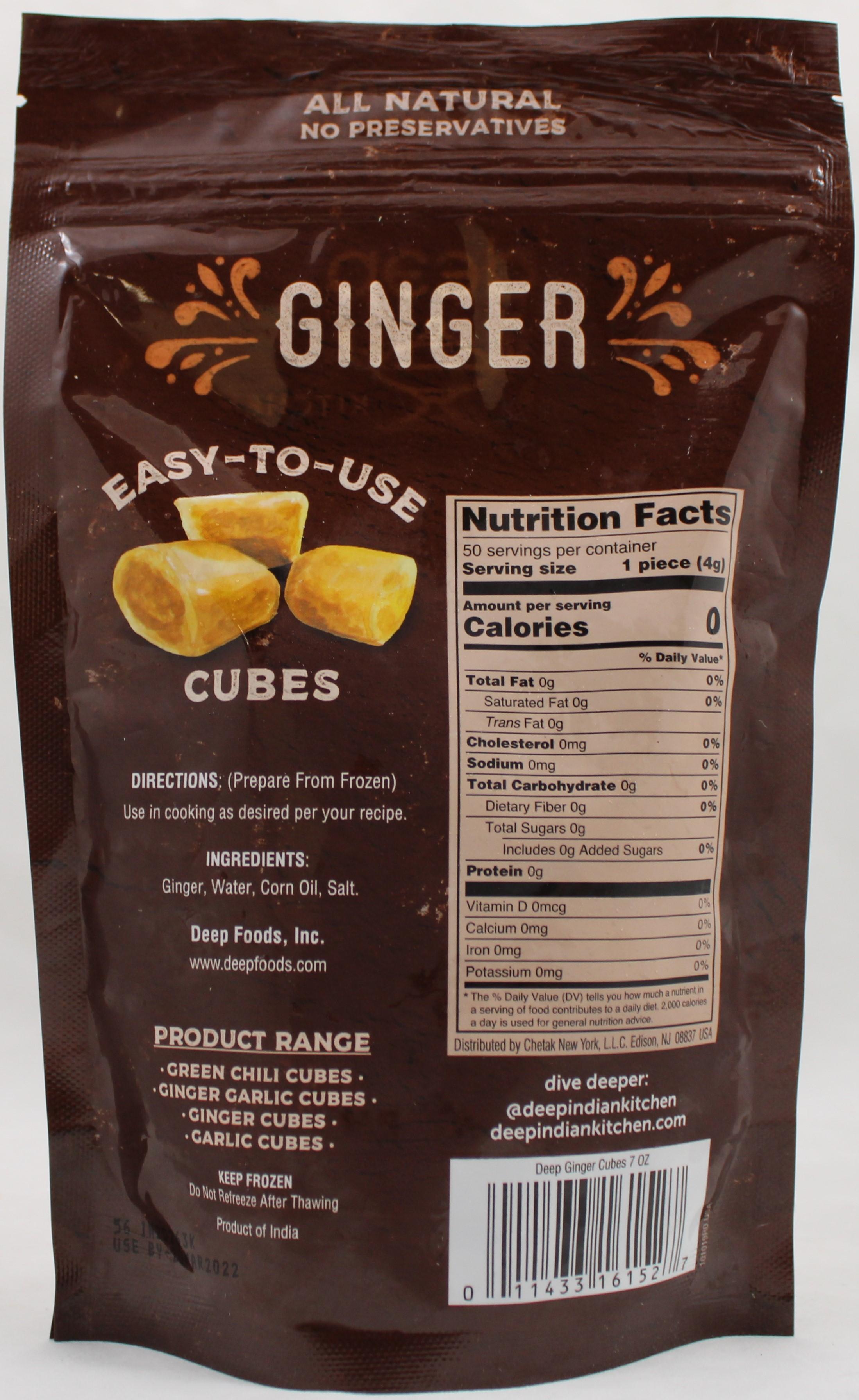 Ginger Cubes 7 Oz
