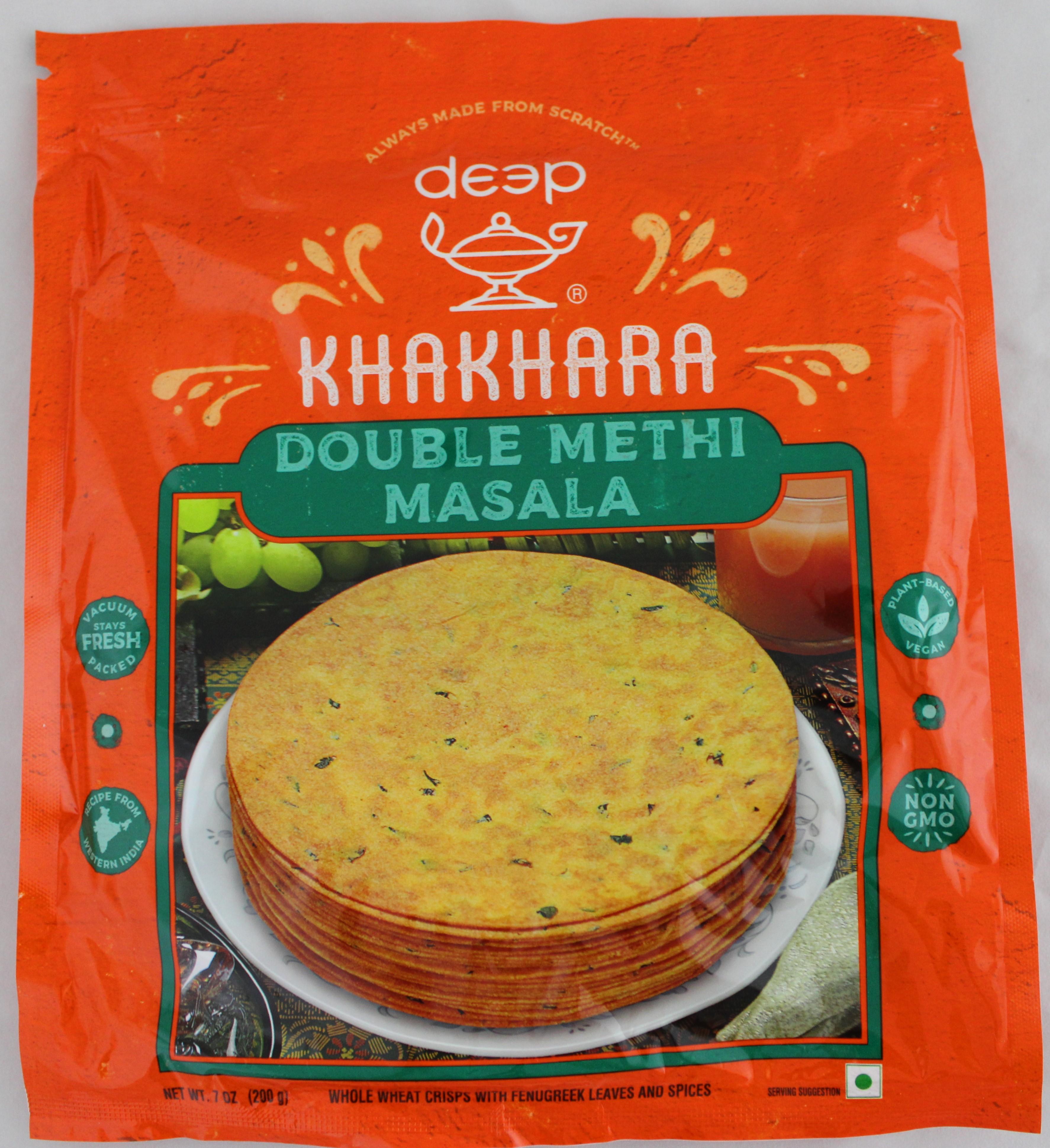 Indian Grocery - Double Methi Masala Khakhara 7oz