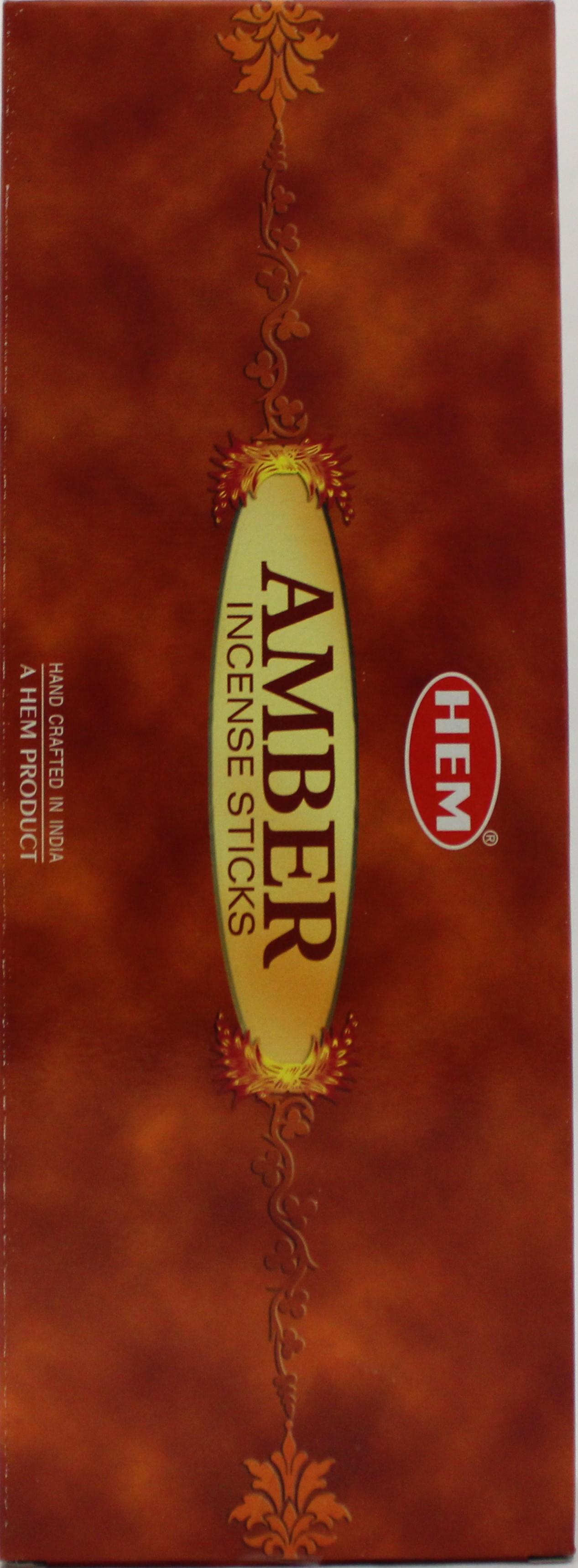Hem Amber Agarbatti 6Hx x 12