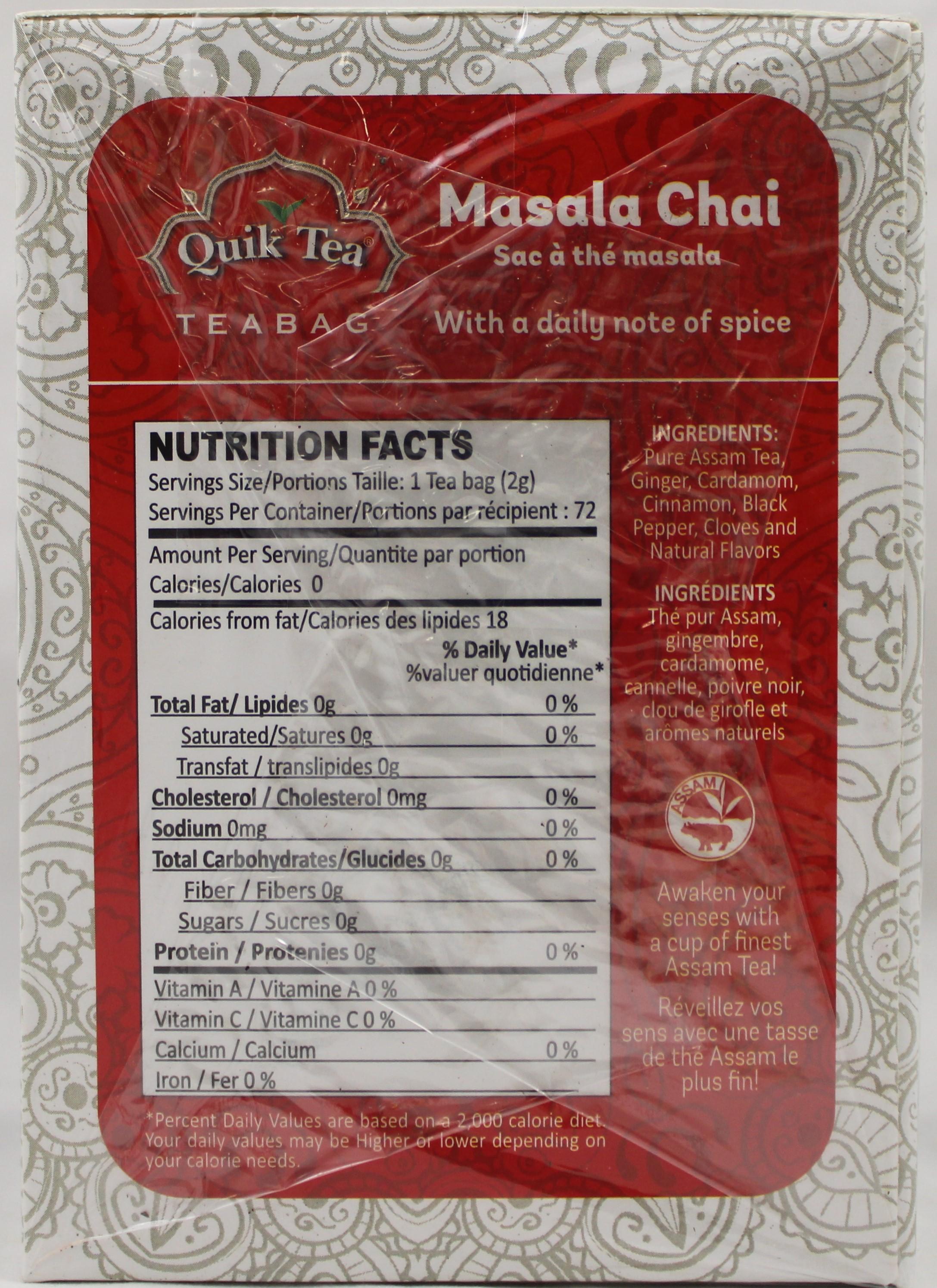 Masala Tea Bags 5.08 oz
