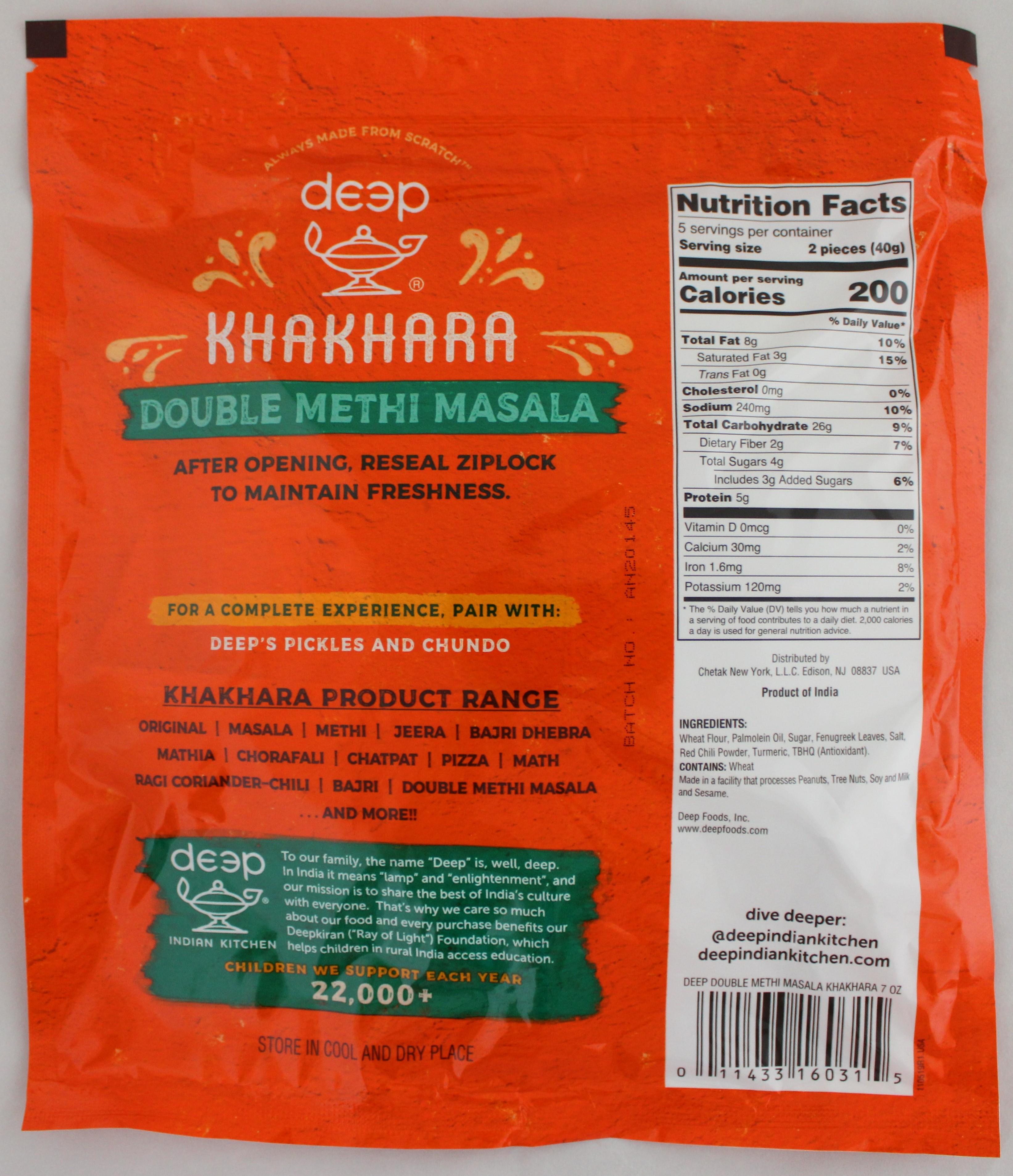 Double Methi Masala Khakhara 7oz