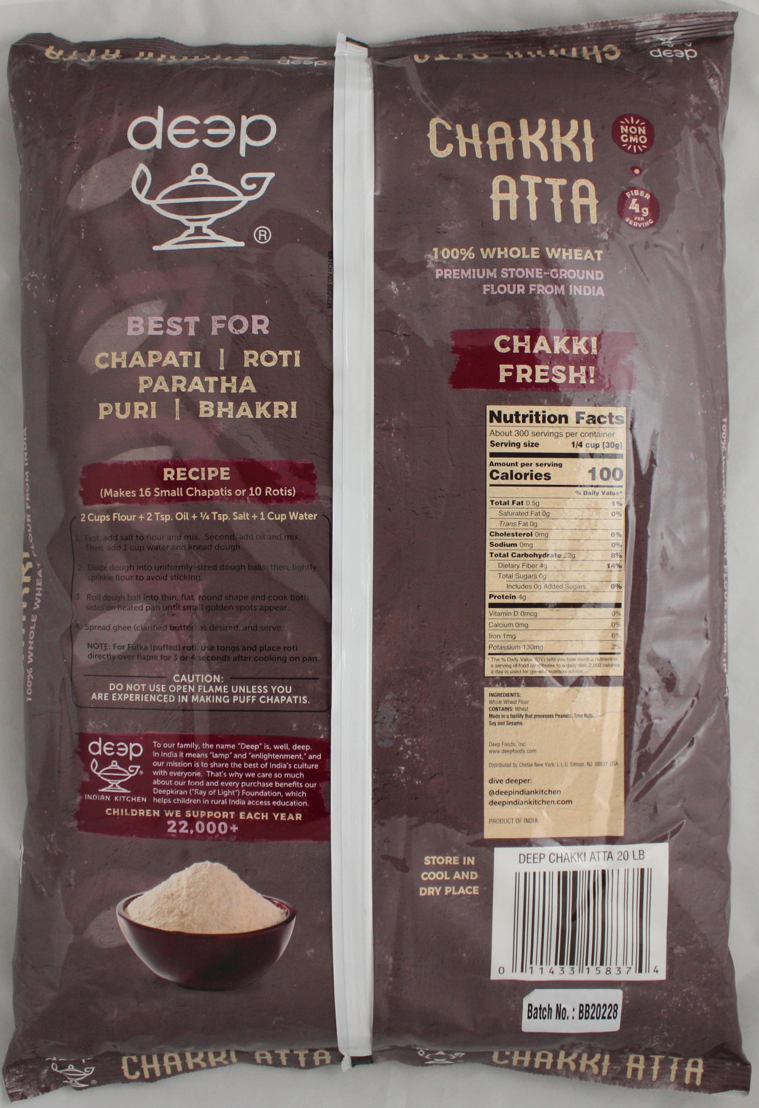Chapati Flour (Chakki Atta) 20lbs