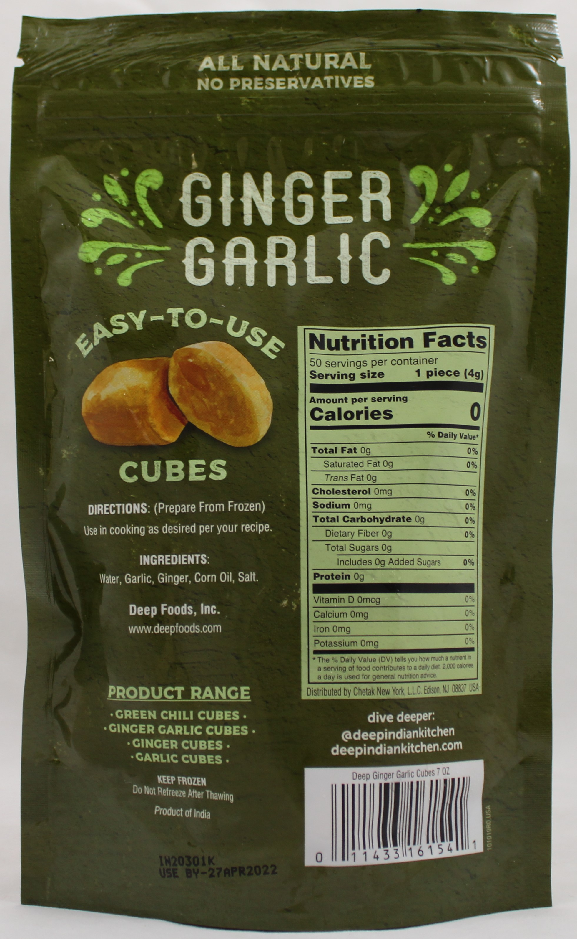 Ginger Garlic Cubes 7 Oz