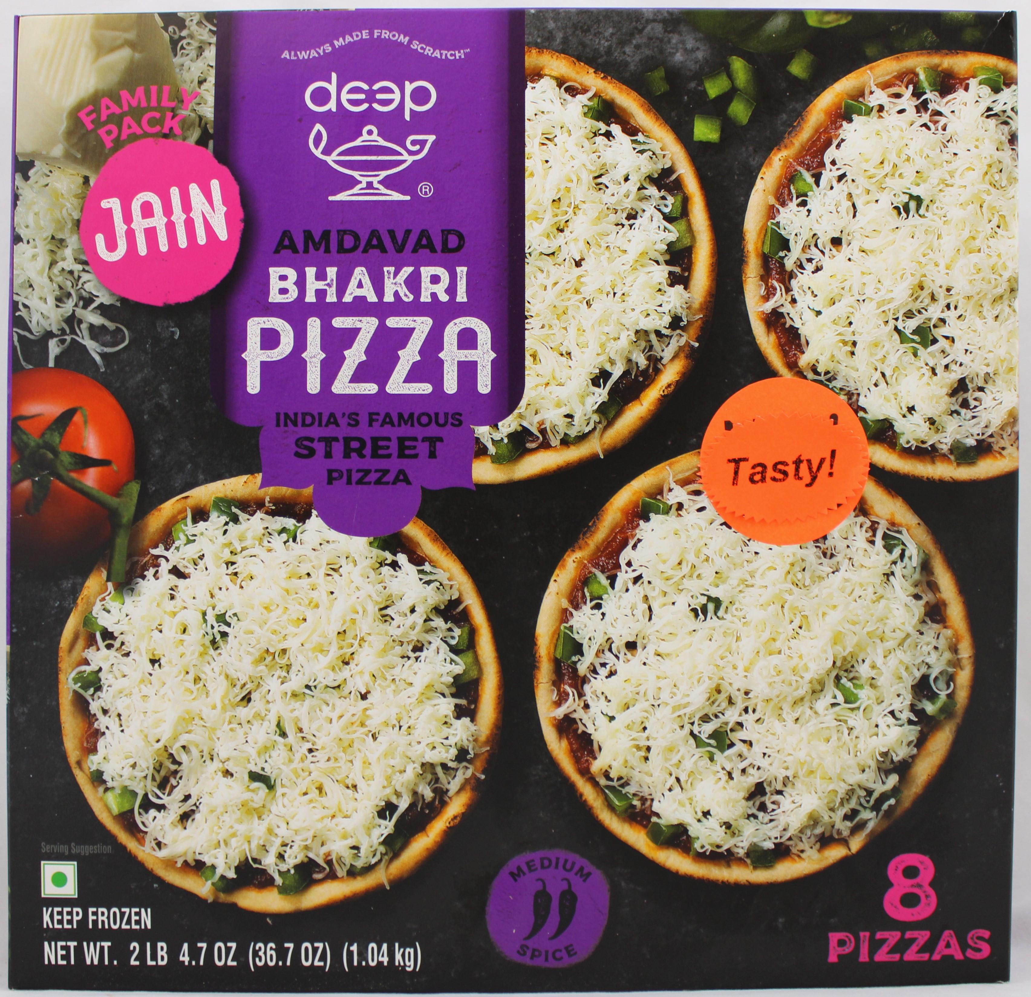 Amdavad Bhakri Pizza Jain - 8 PCS