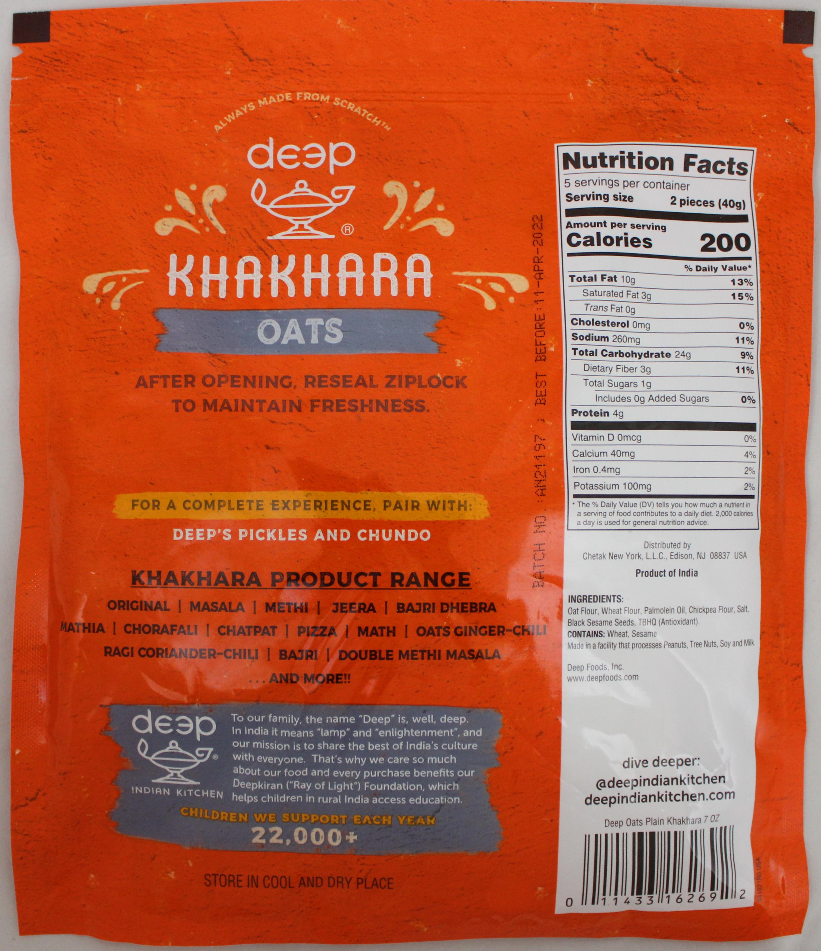 Oats Khakhara 7 Oz
