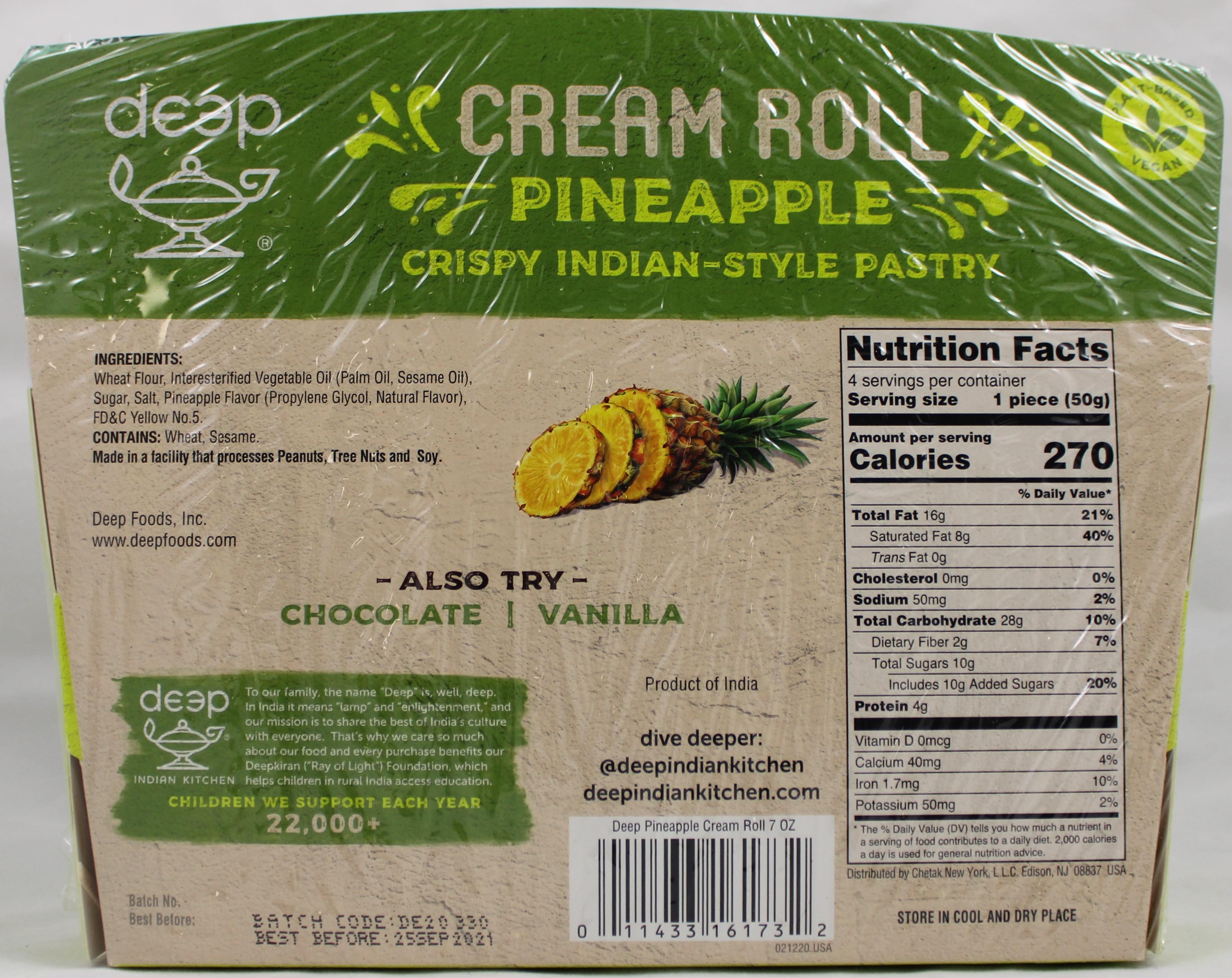 Cream Rolls-Pineapple (4 pcs) 7 Oz