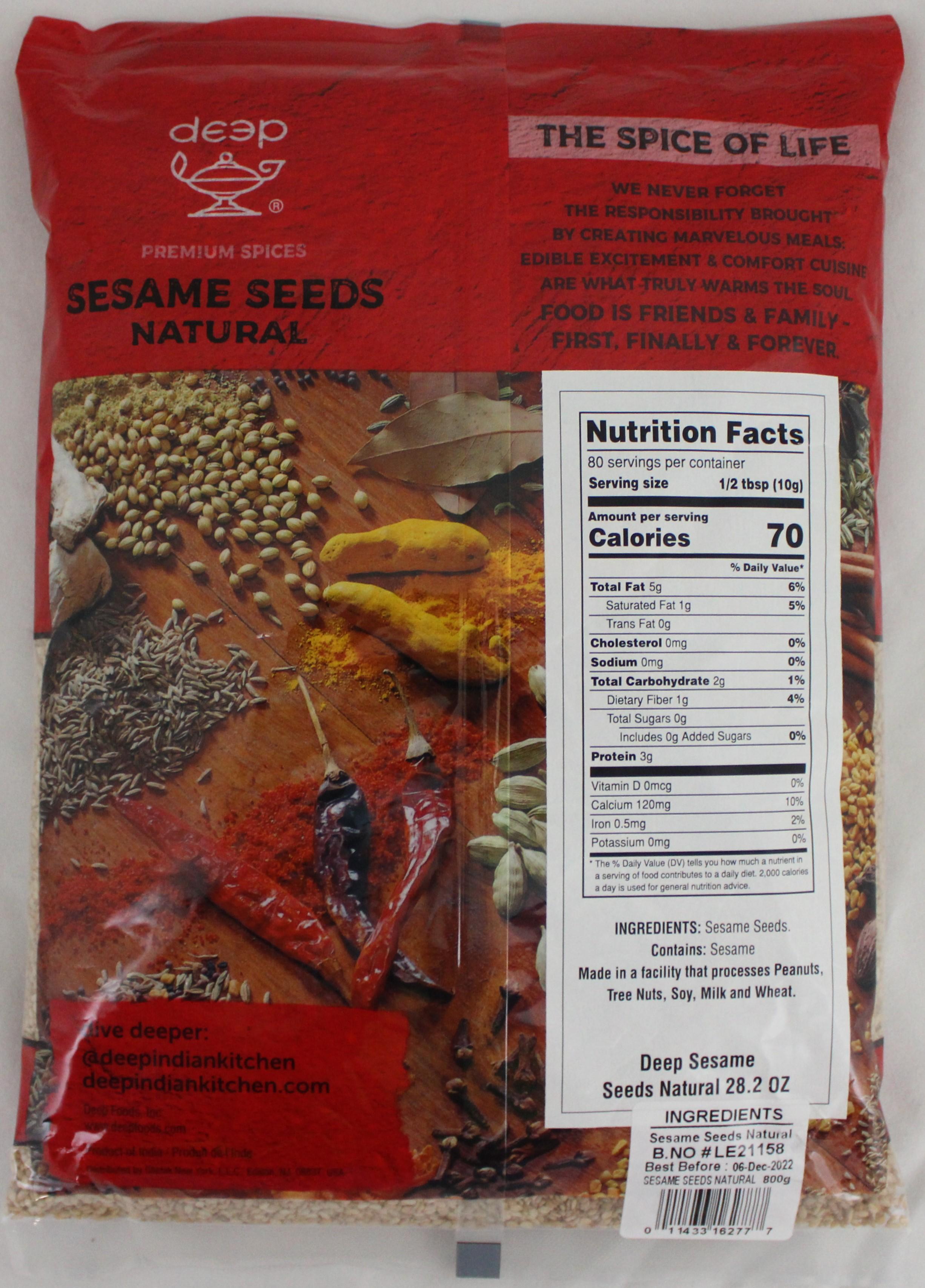 Sesame Seeds - Natural 28.2 Oz