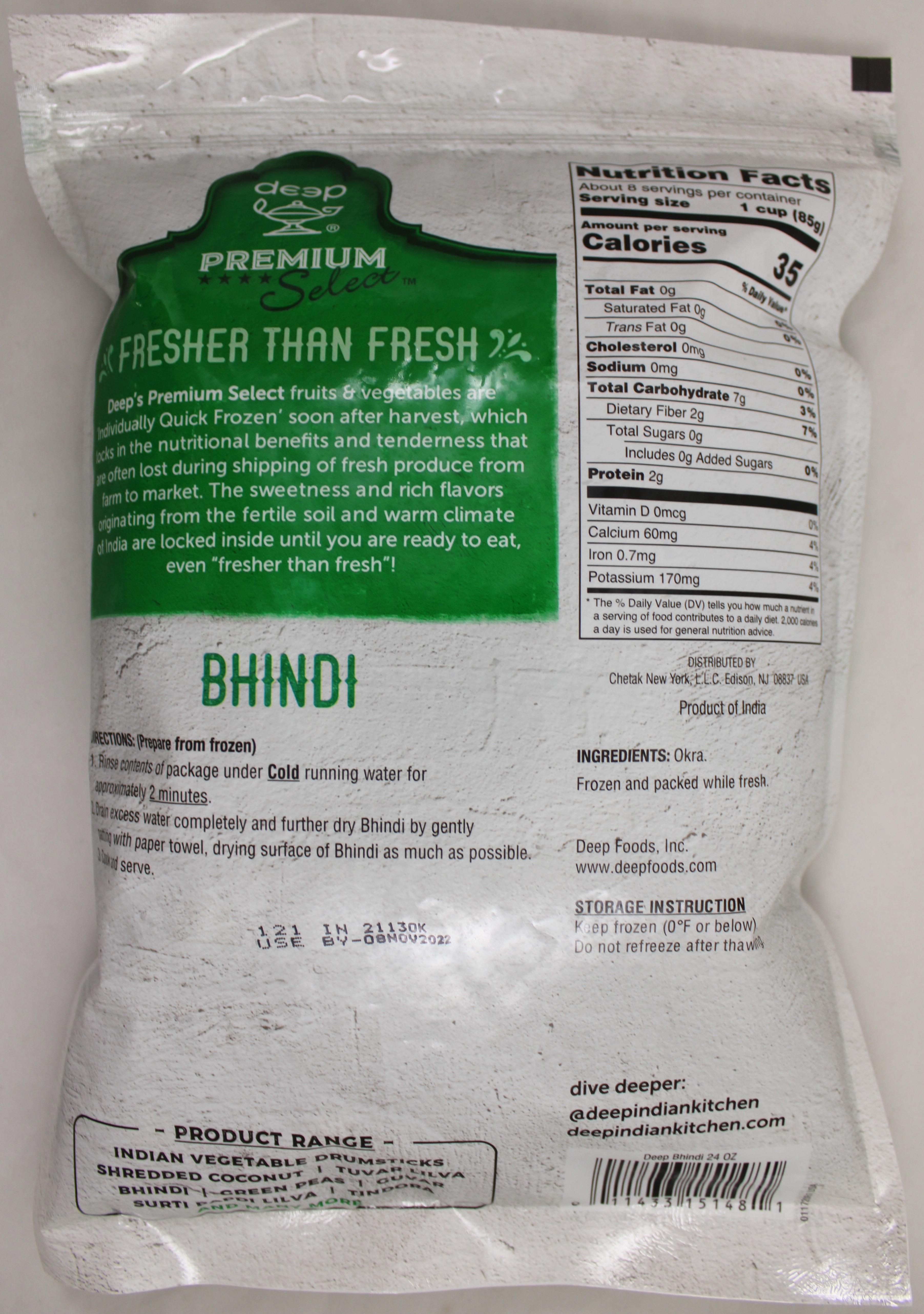 Bhindi Cut (Okra) Frozen 24oz