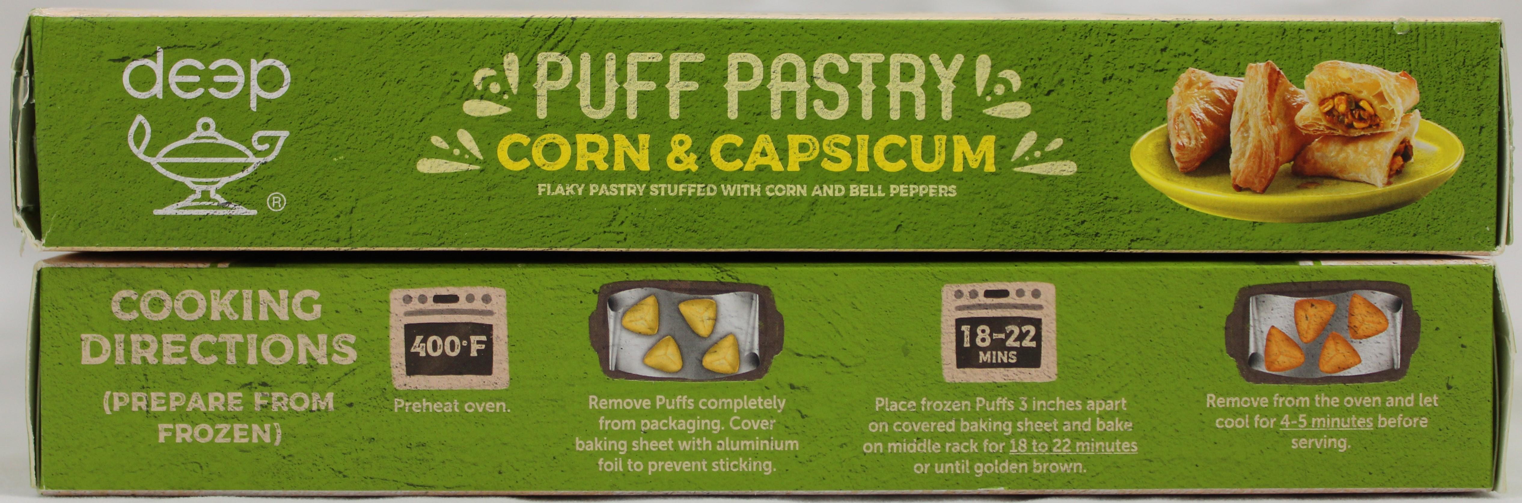 Corn Capsicum Puff (6 pcs) 12.7 Oz