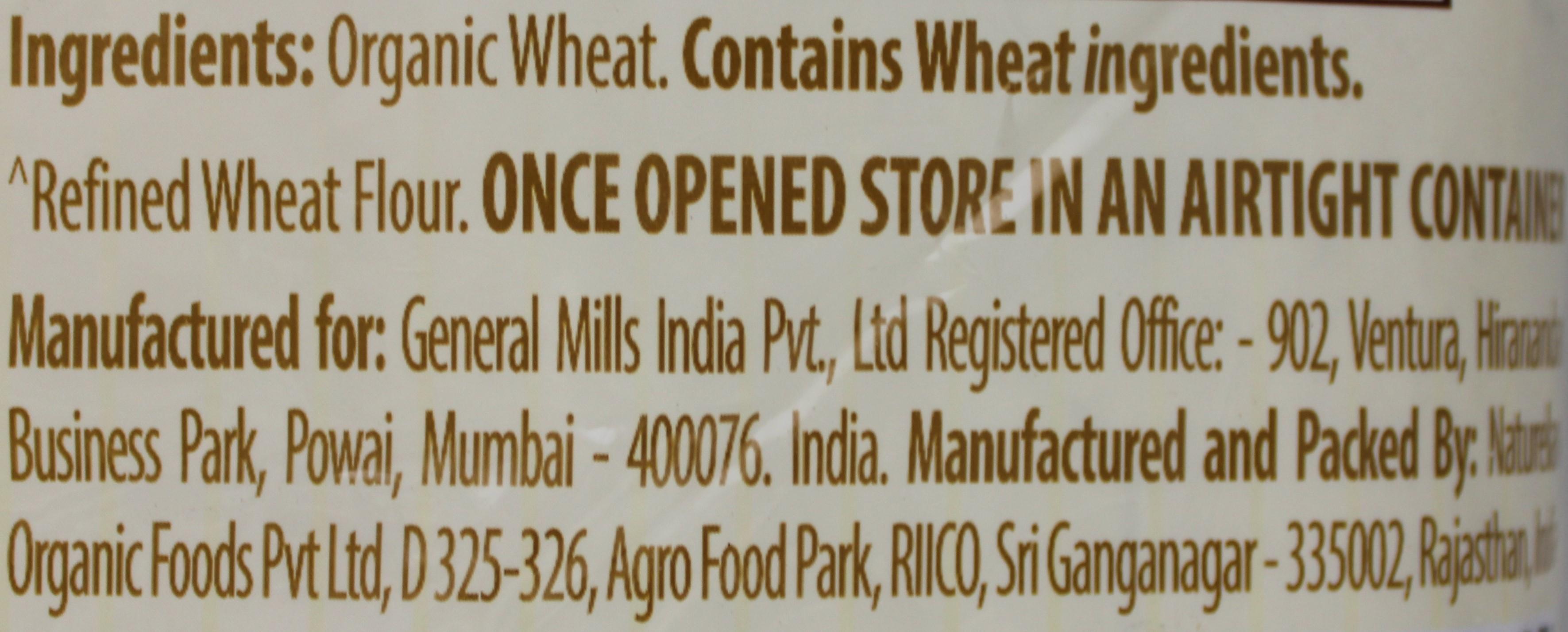 Organic Wheat  Atta 4Lb