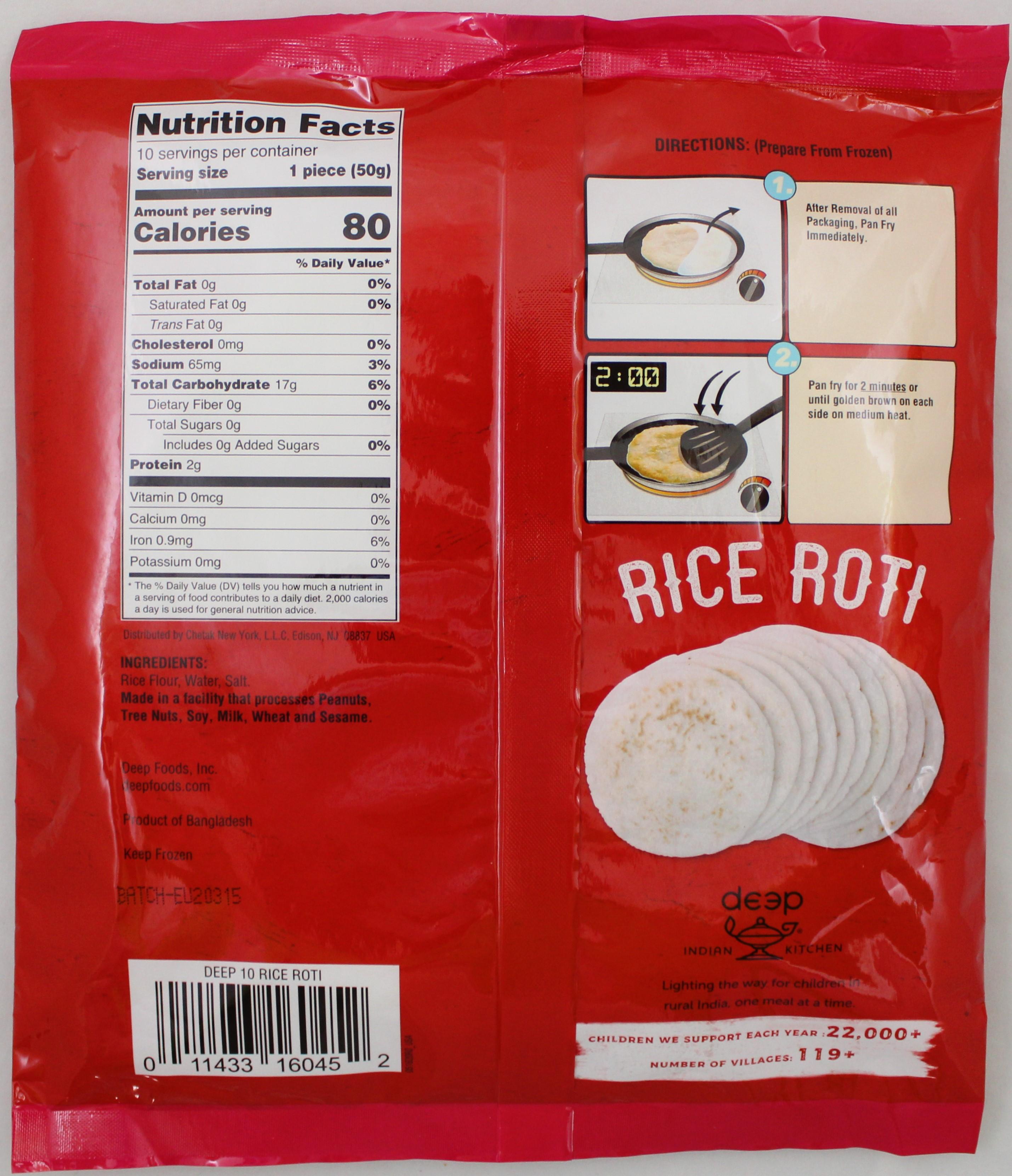 Rice Roti 10 pcs 17.6 Oz