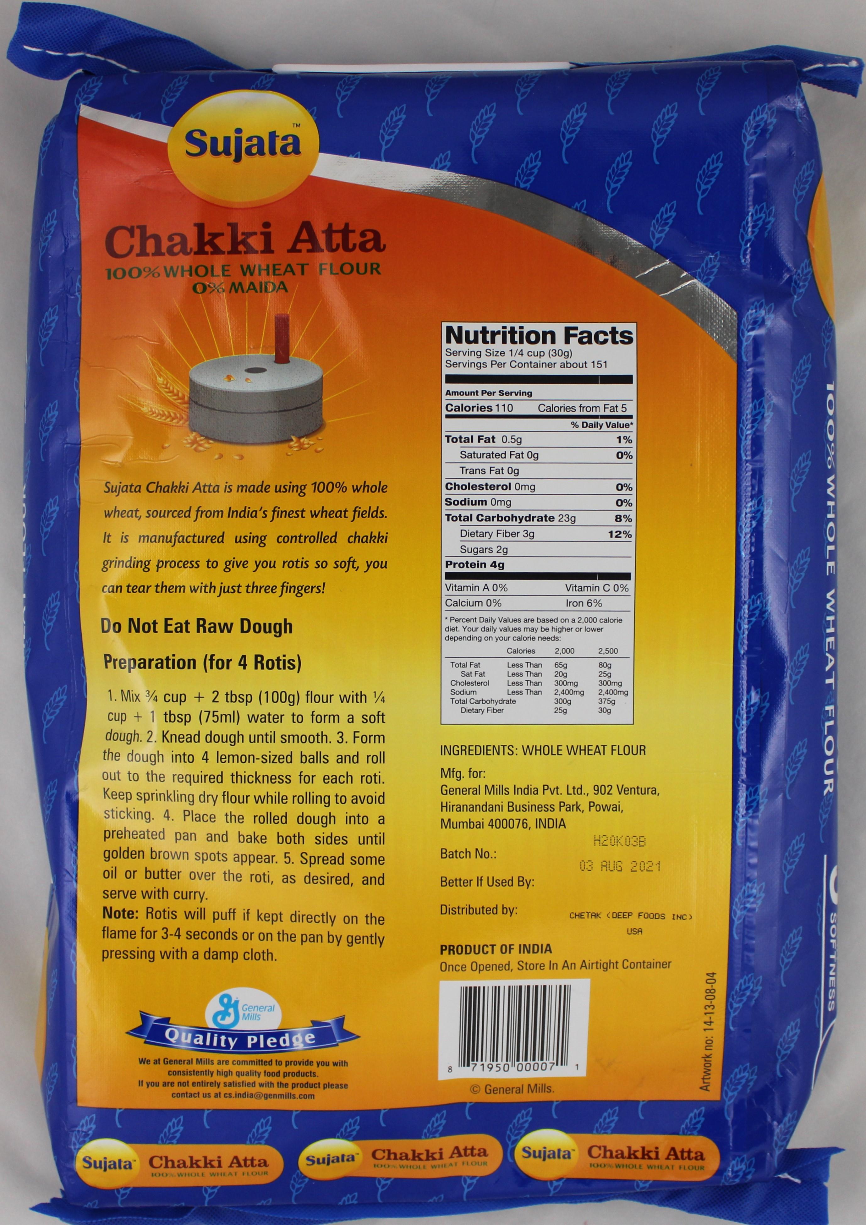 Chakki Atta(Whole Wheat Flour) 10lb