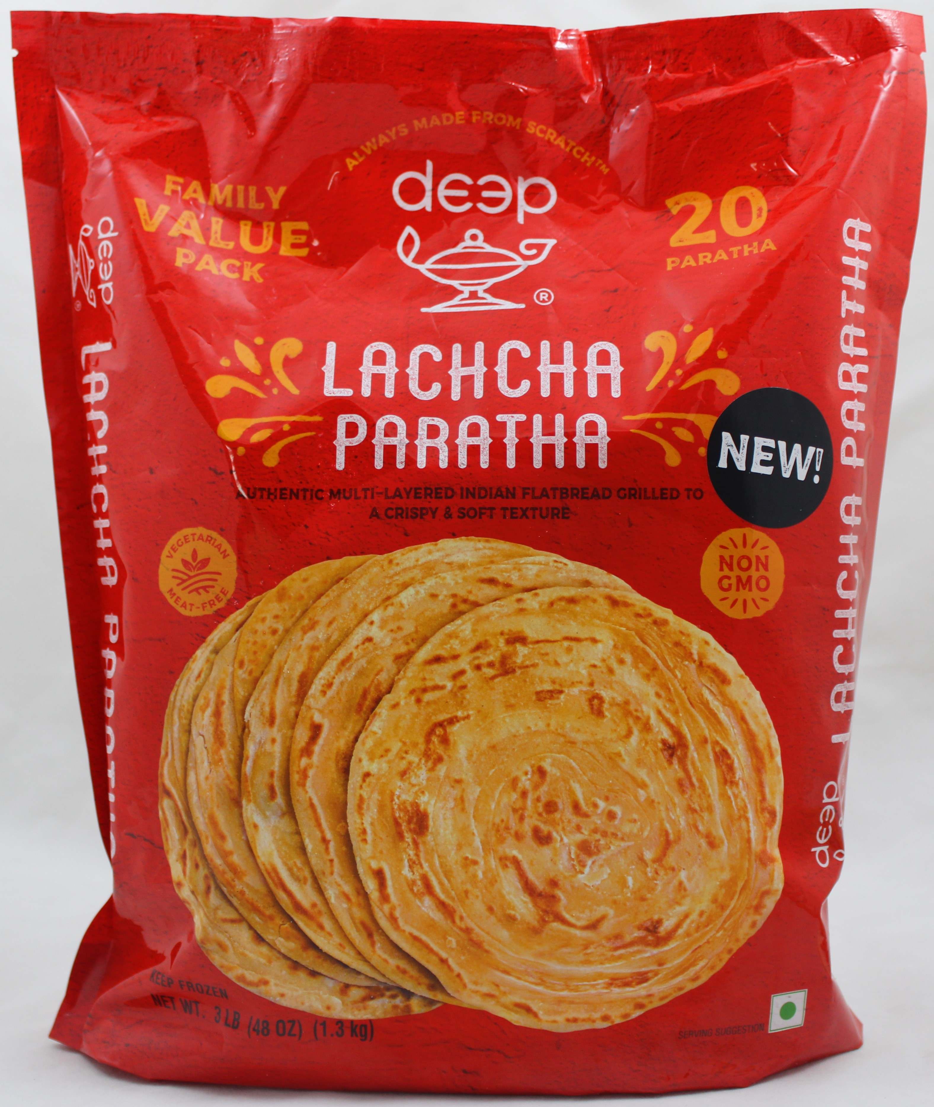 FPLachcha Paratha 48Oz (20Pcs)