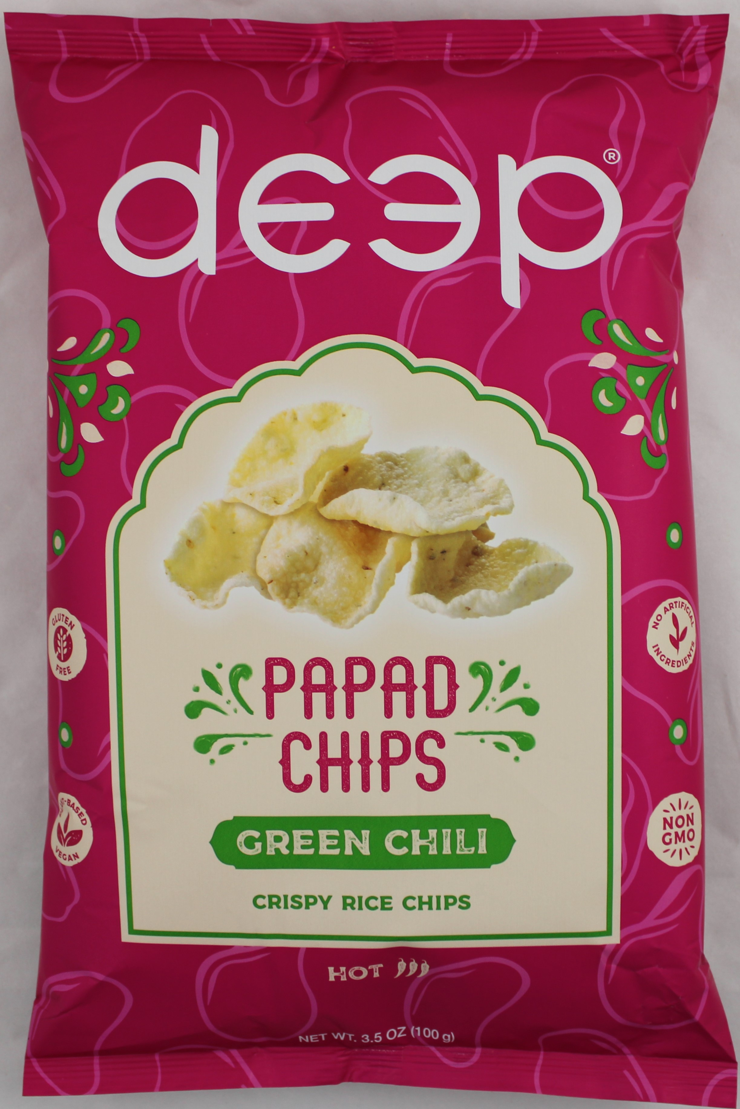 Green Chilli  Papad Chips 3.5oz