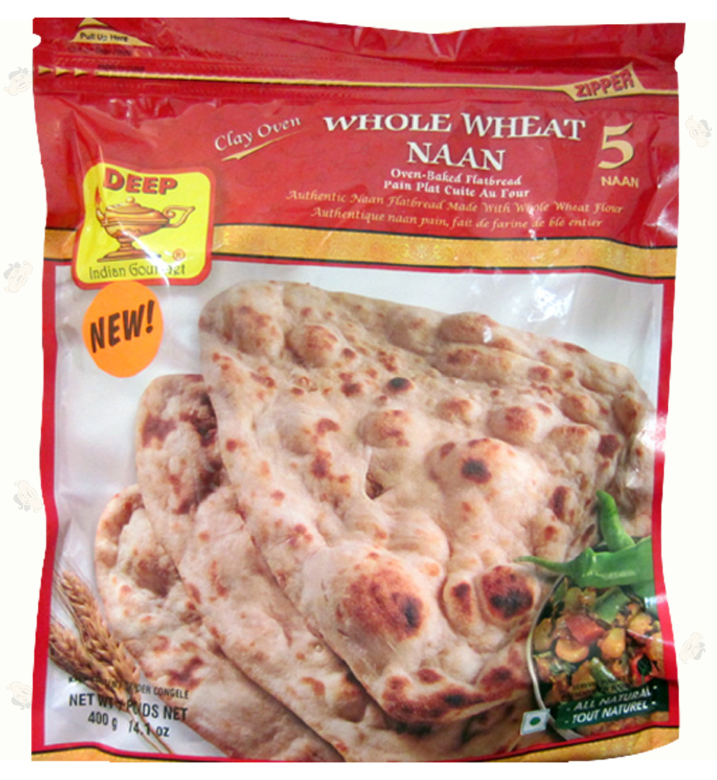 Clay Oven Whole Wheat Naan5p-14.1oz