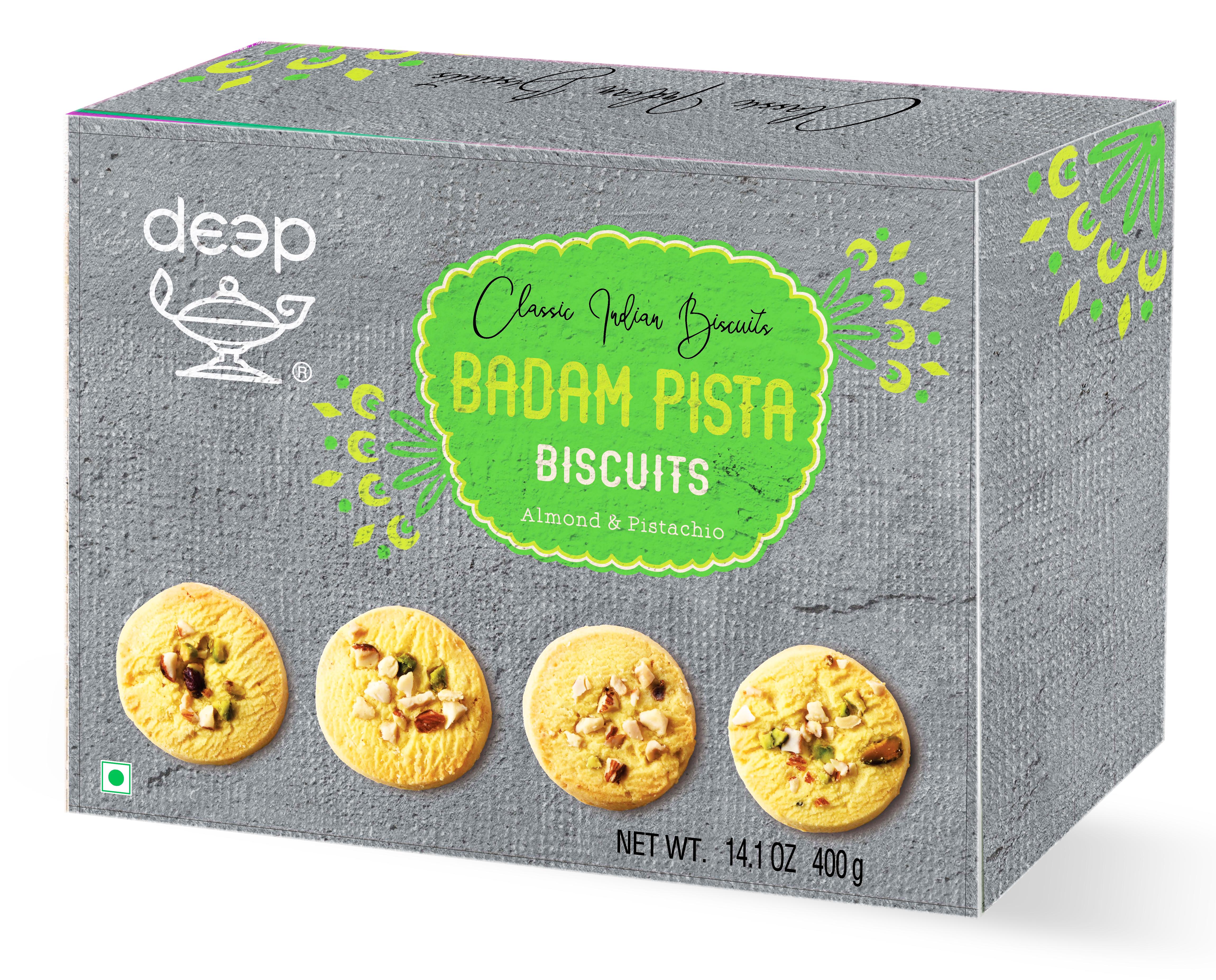 Badam Pista Biscuits 14.1 Oz