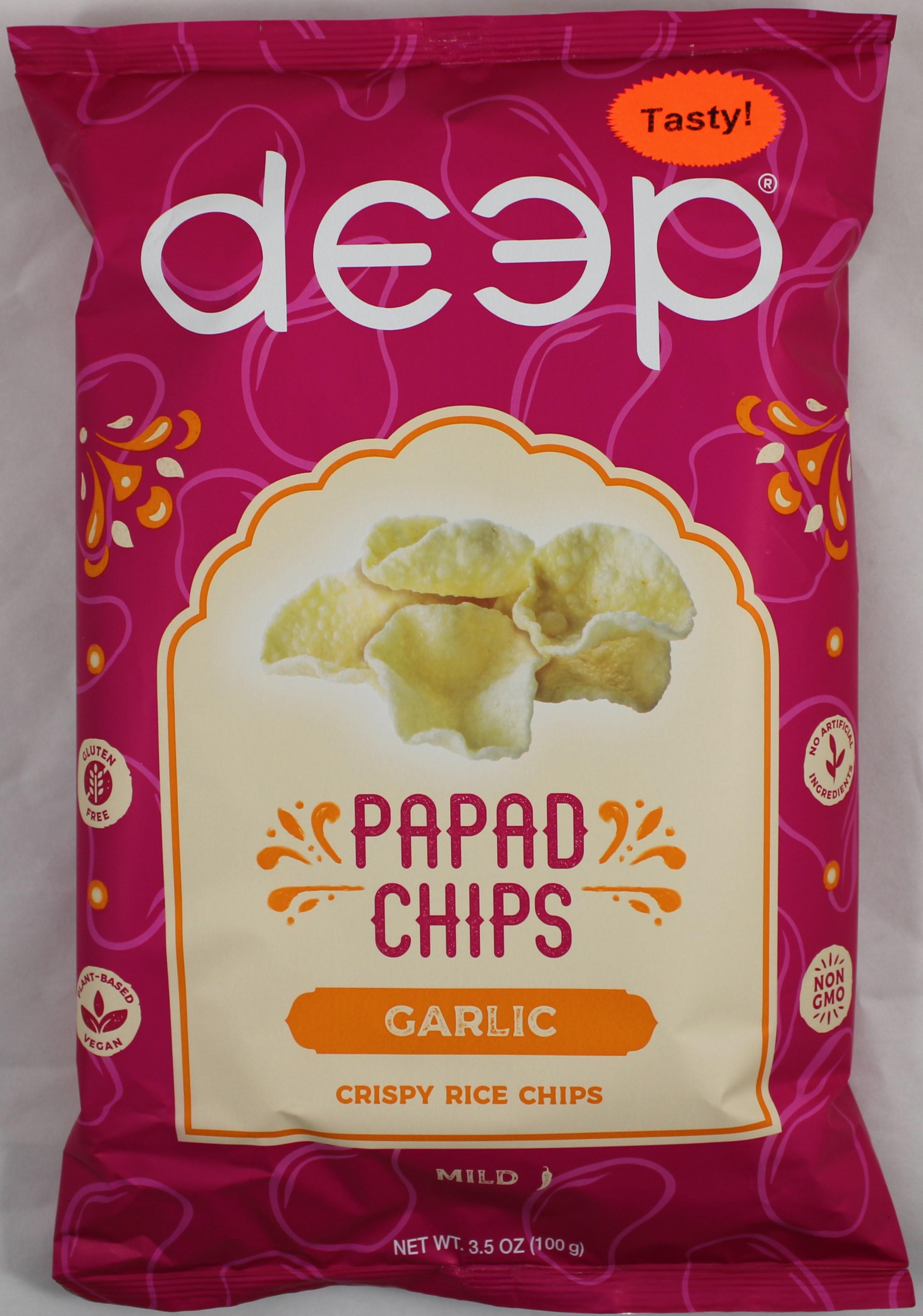 Garlic Papad Chips 3.5oz