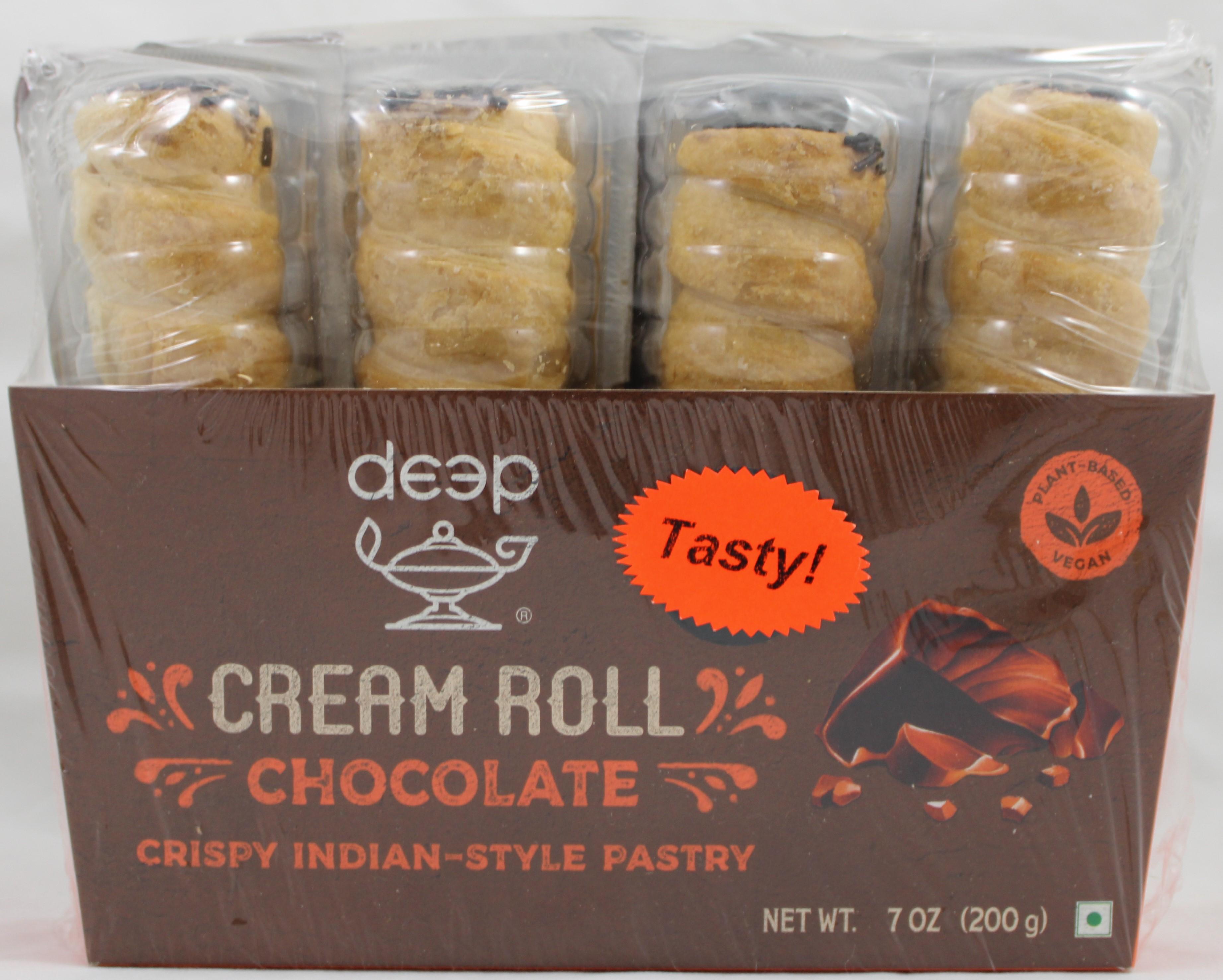 Cream Rolls-Chocolate (4 pcs) 7 Oz