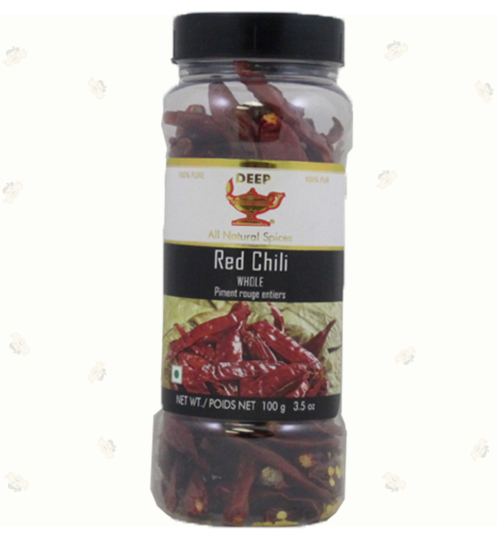 Red Chilli Whole (Bottle) 3.5oz