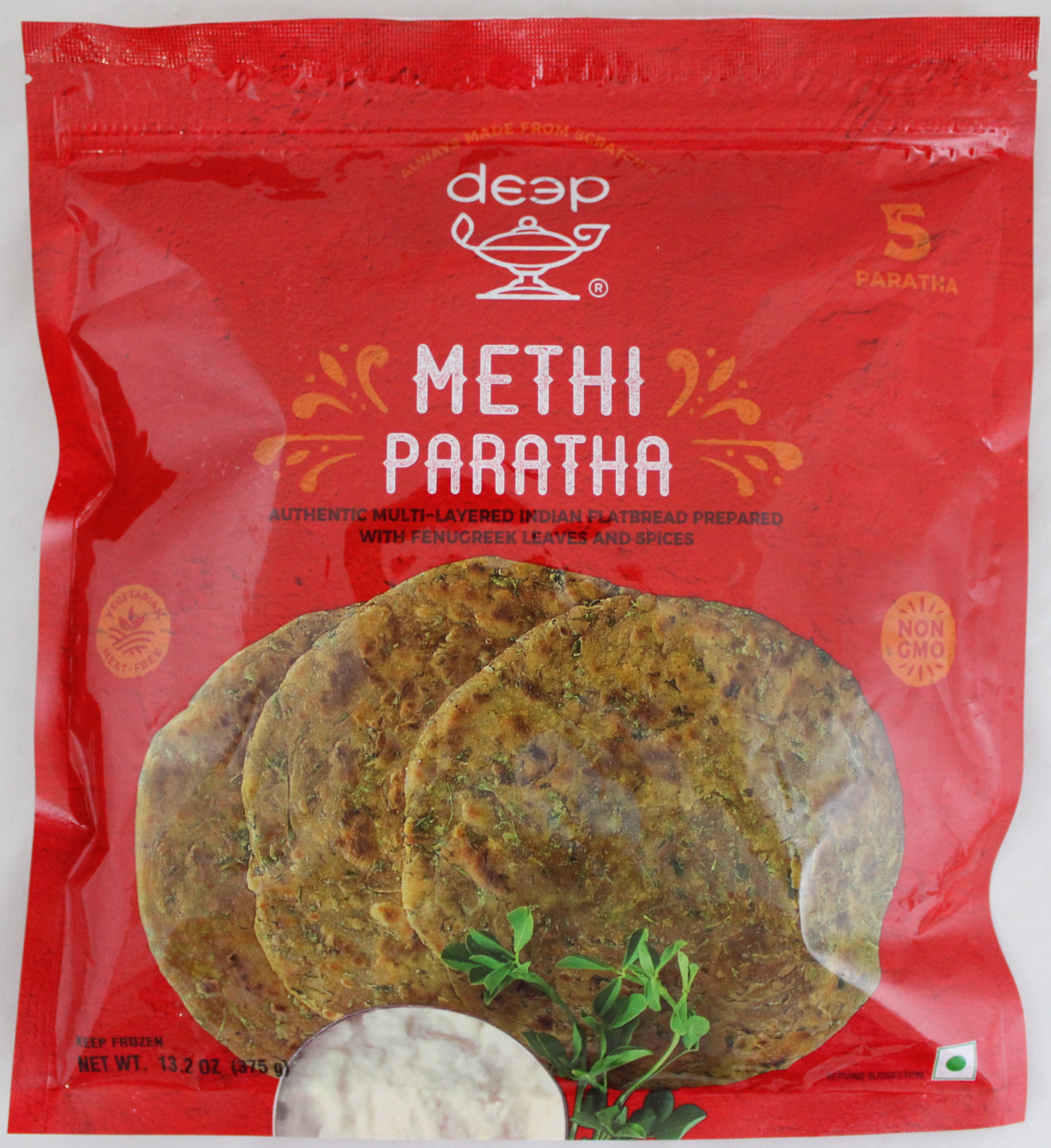Homestyle Methi Paratha 5pcs-13.2oz