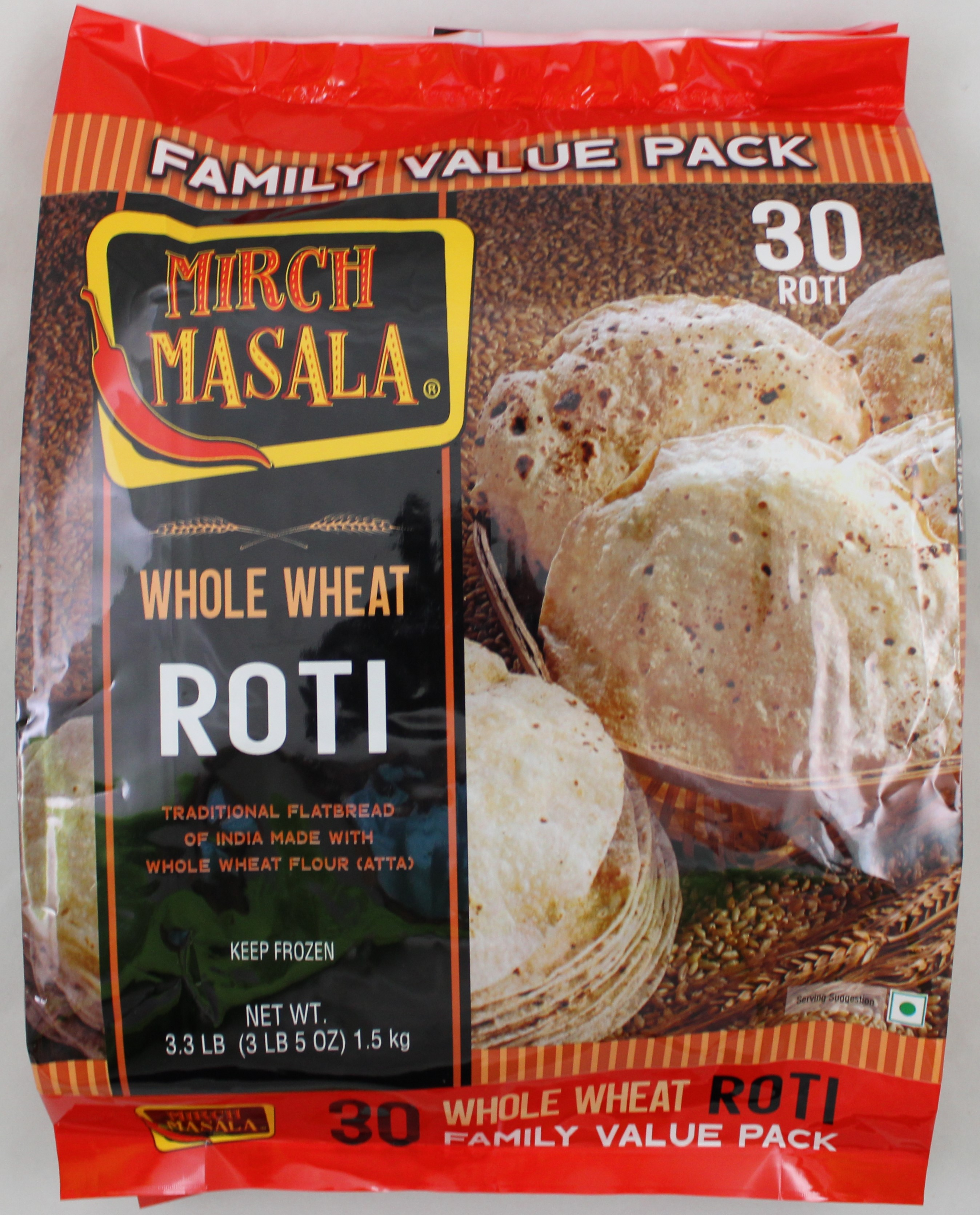 Whole Wheat Roti 30 pcs
