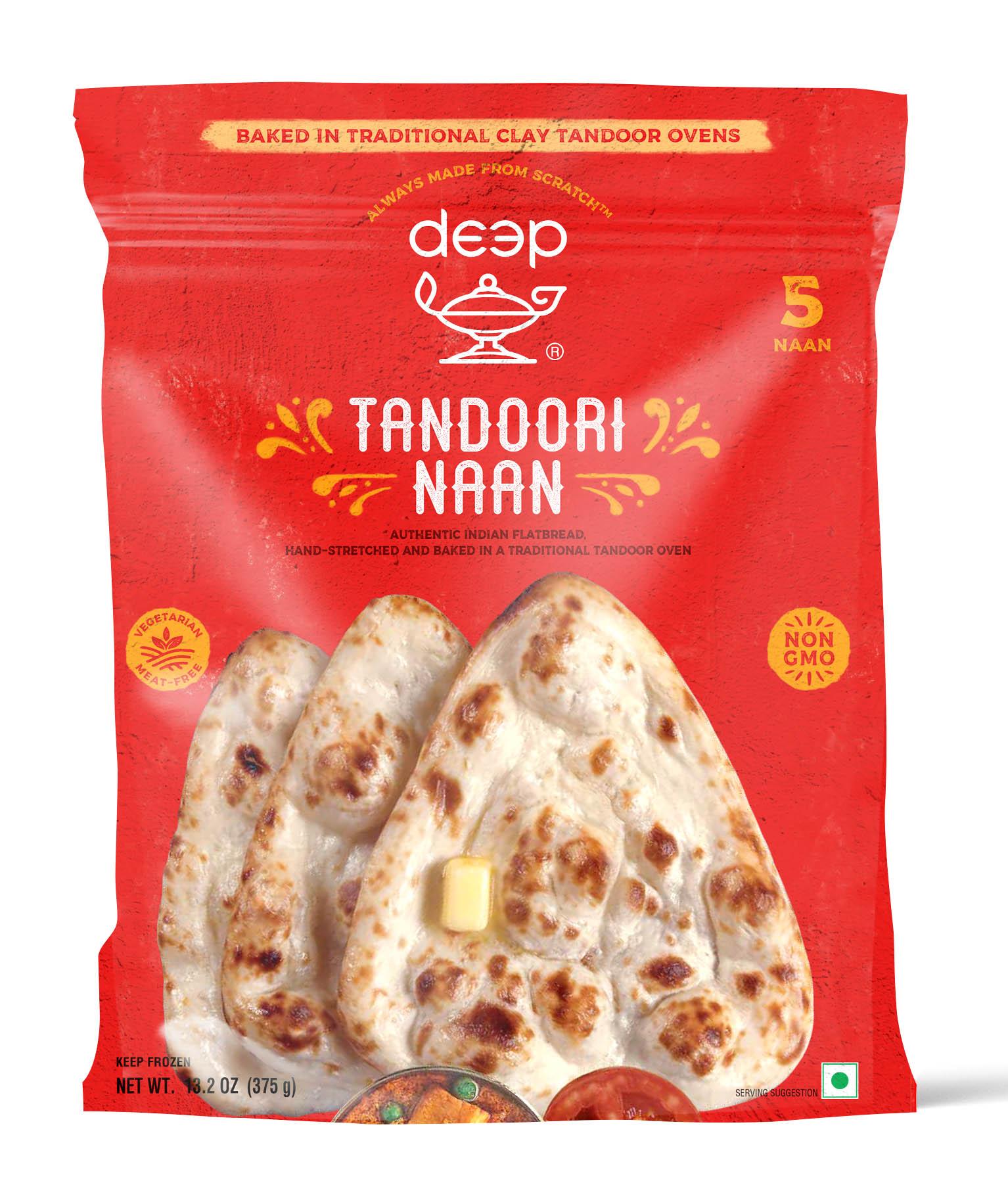 Indian Grocery - Clay Oven Tandoori Naan 5p-13.2 oz.