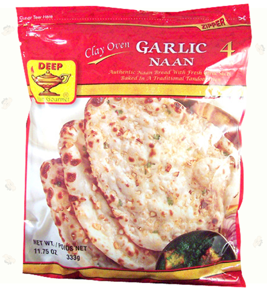 Indian Grocery - Garlic Naan 4 pc