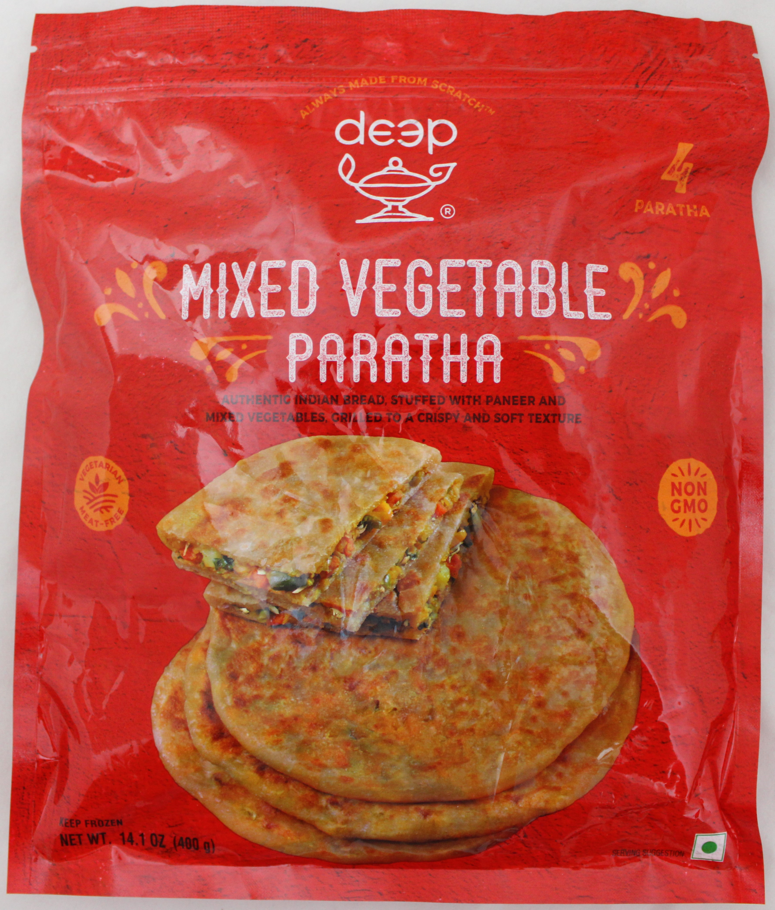 Mixed Vegetable Paratha 4p-14.1oz