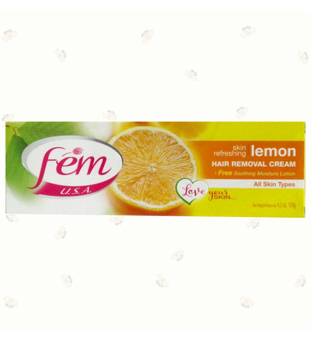 Fem Hair Removal Cream Lemon 4.2Oz