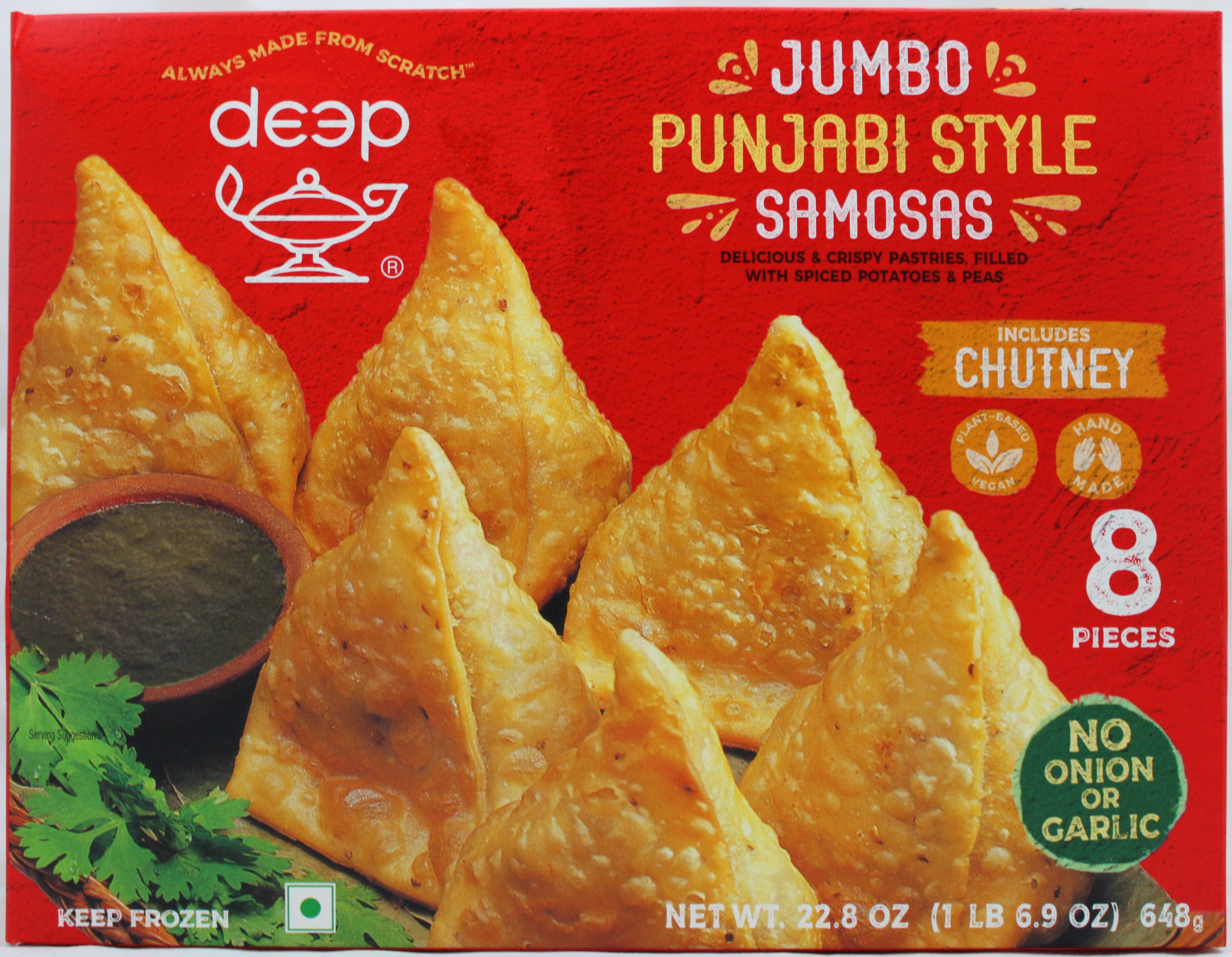 Jumbo Punjabi Samosa 8p-22.8oz