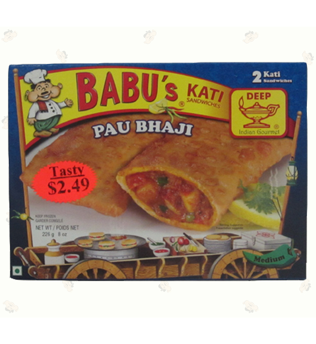 Pau Bhaji 2 Pocket Sandwiches 8oz