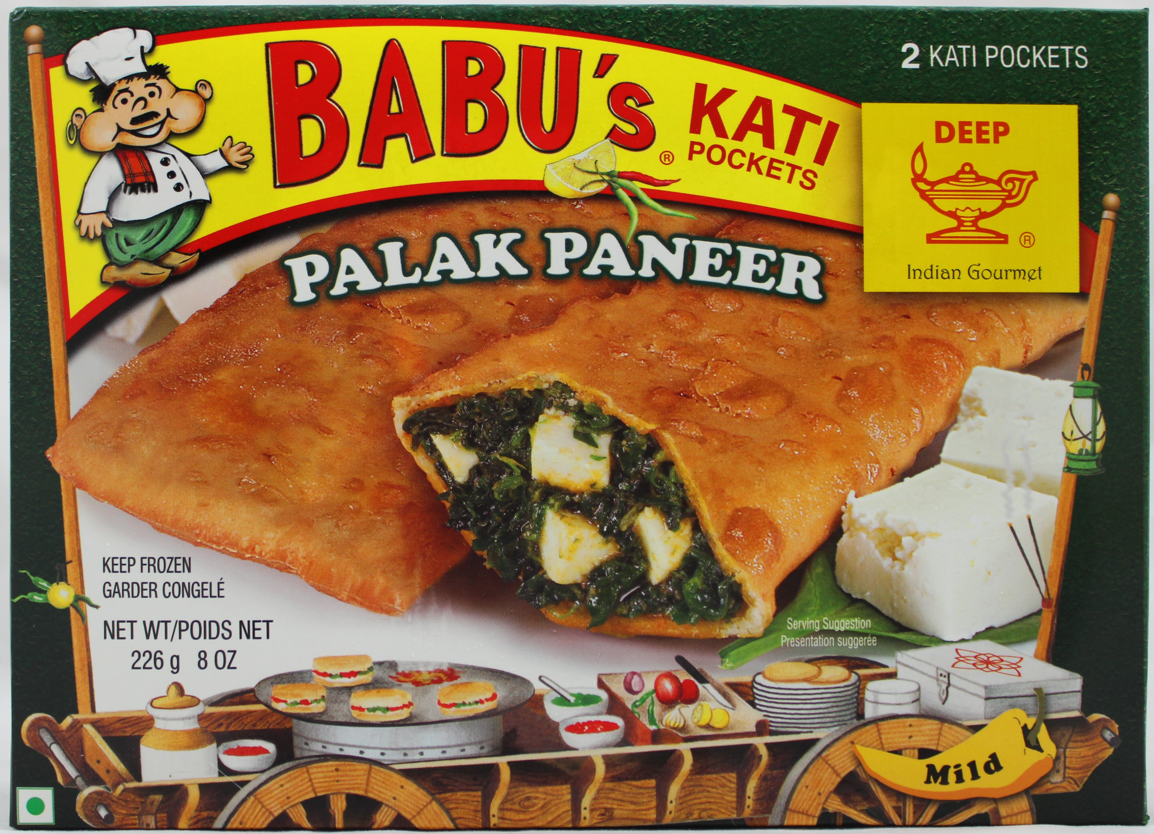 Palak Paneer 2 Pocket Snndwch 8oz