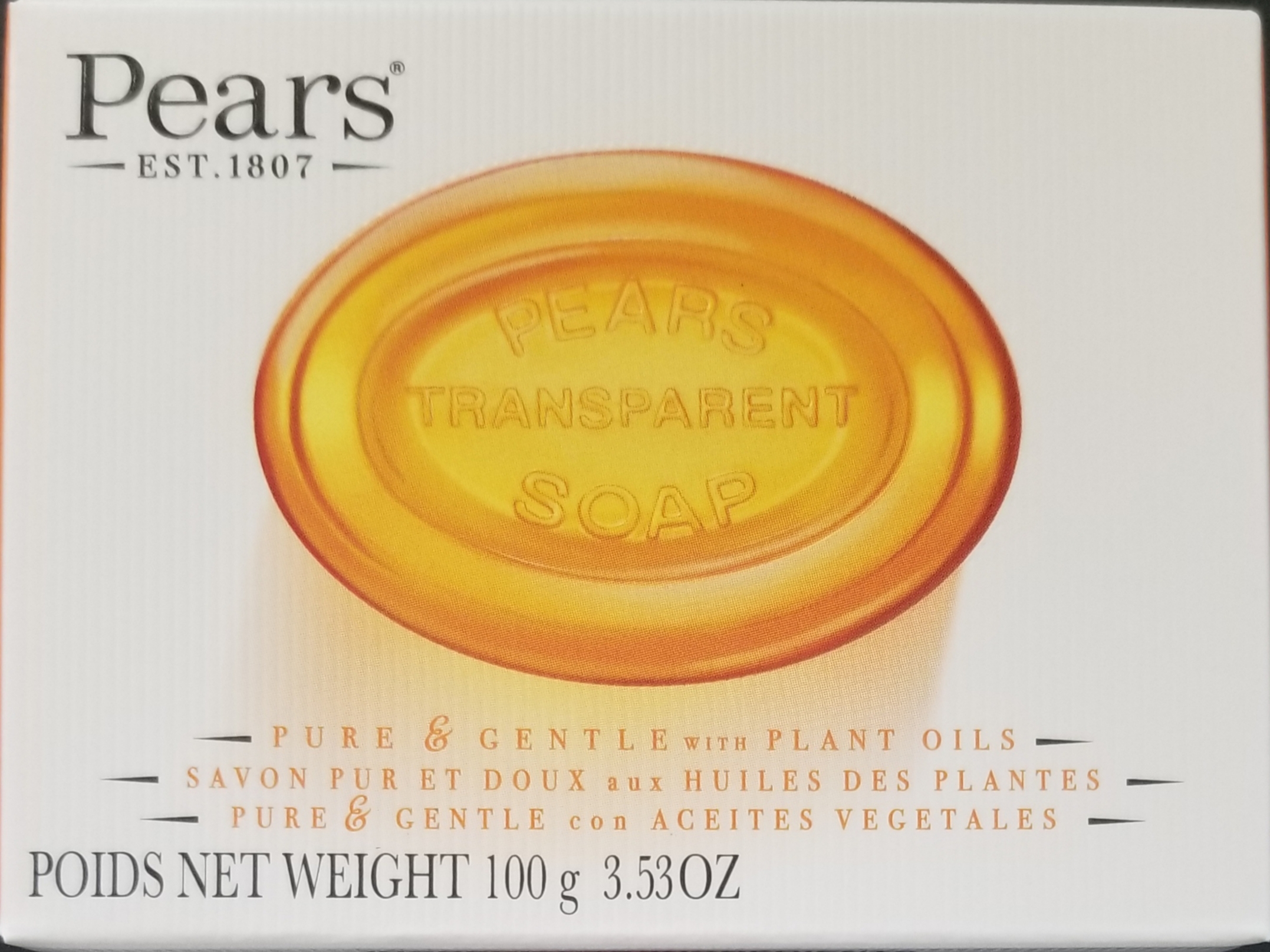 Pears Transparent Soap 3.5oz