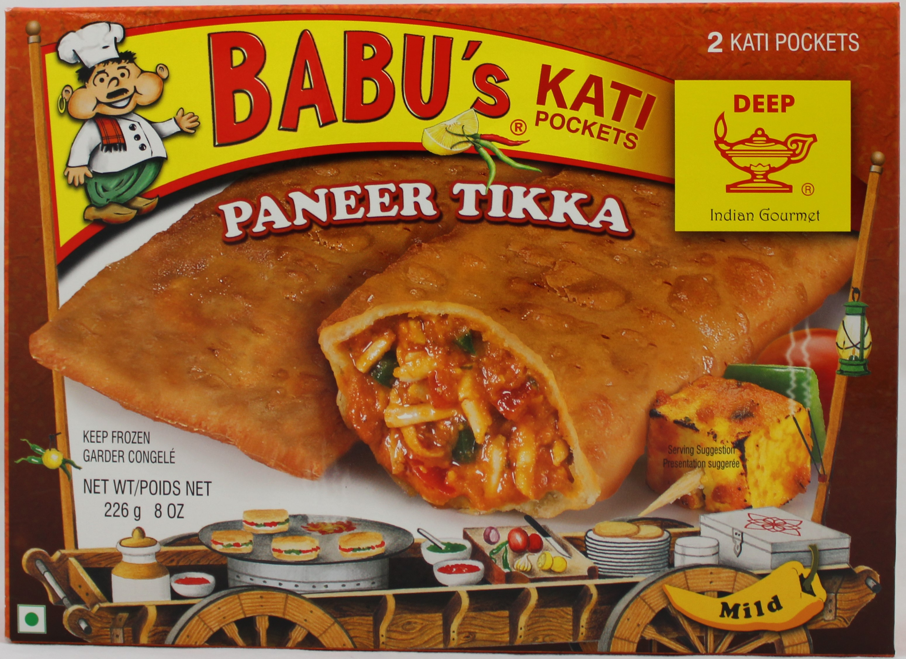 Paneer Tikka 2 Pocket Sandwch 8oz