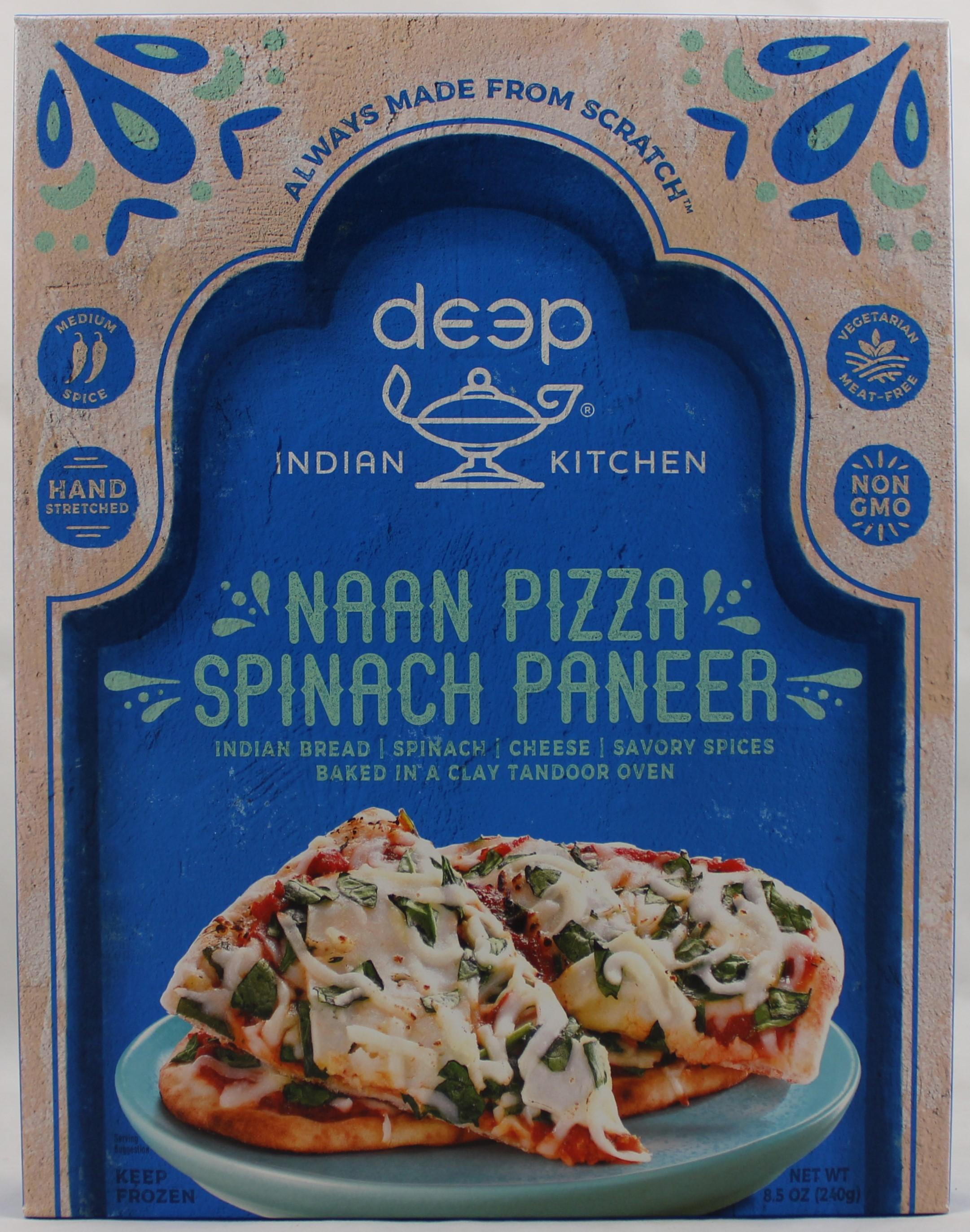 Spniach & Paneer Cheese Pizza 8.5oz