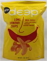 Red Chili Long Banana Chips 7 Oz