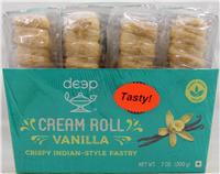Cream Rolls-Vanilla (4 pcs) 7 Oz
