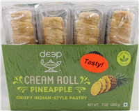 Cream Rolls-Pineapple (4 pcs) 7 Oz