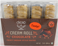 Cream Rolls-Chocolate (4 pcs) 7 Oz