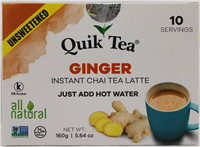 Unsweetened Ginger Chai 5.64oz.