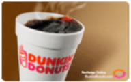 Dunkin Donuts Gift Cards